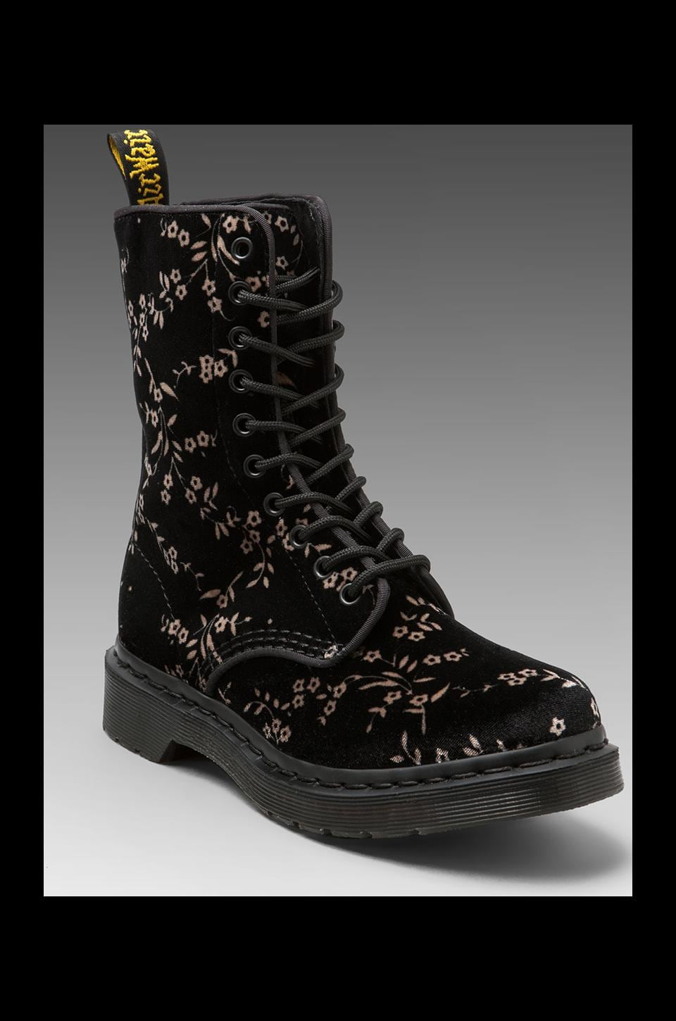 Dr. Martens Avery 10-Eye Boot DLS Floral in Black