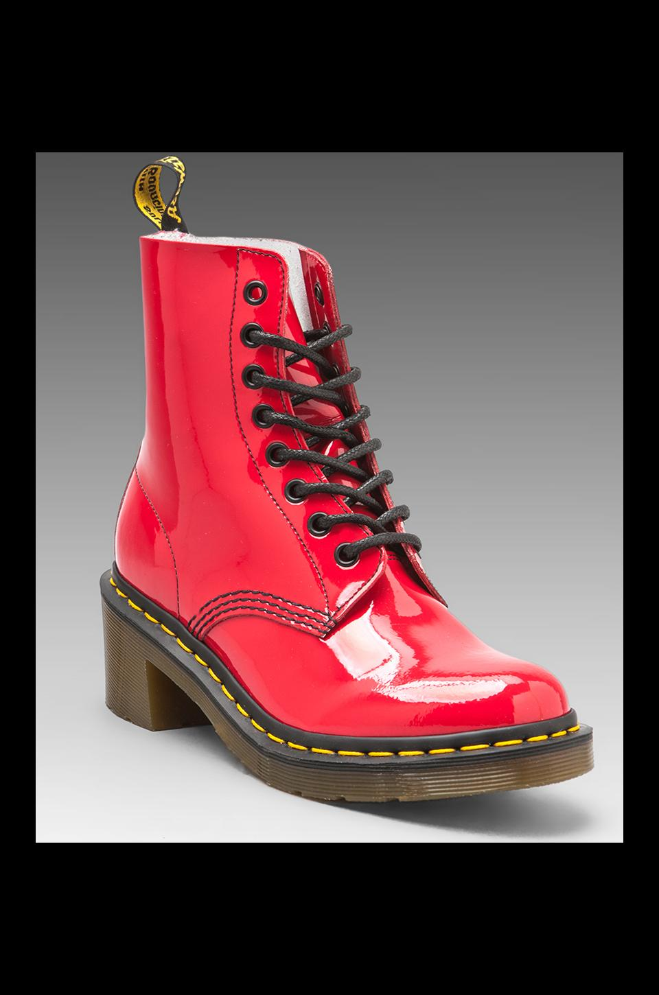 Dr. Martens Clemency 8-Tie Boot in Red Rouge