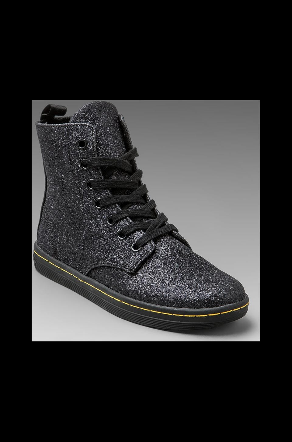 Dr. Martens Hackney 7-Eye Boot in Black Glitter