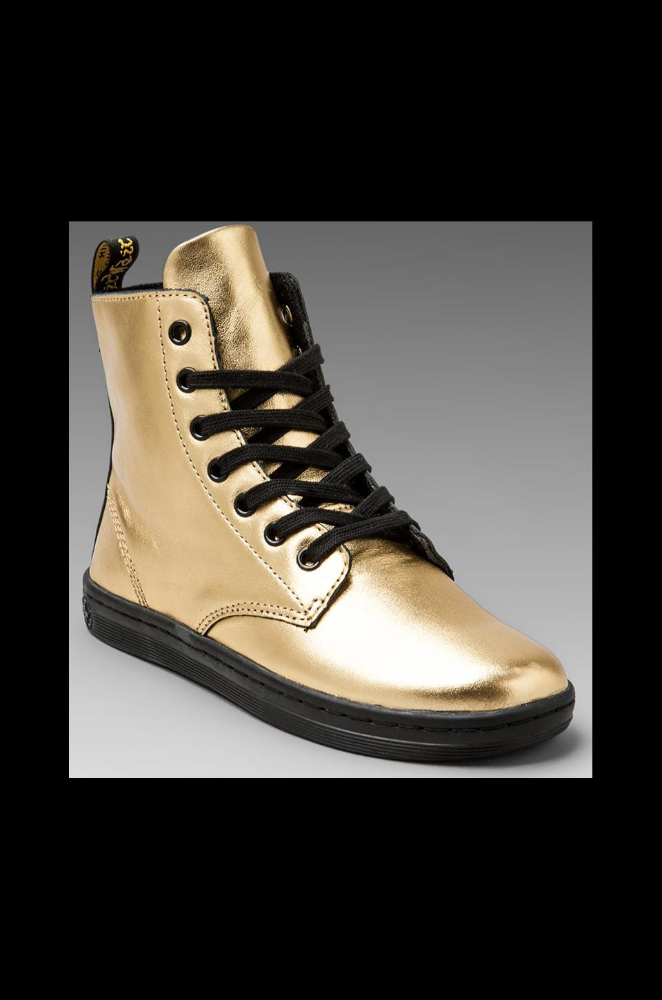 Dr. Martens Leyton 7-Eye Boot in Gold