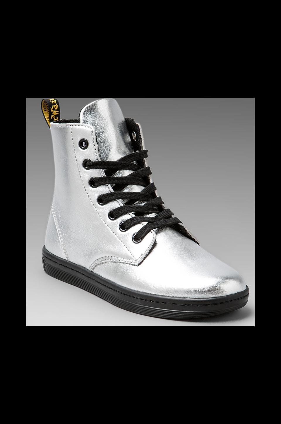 Dr. Martens Leyton 7-Eye Boot in Silver