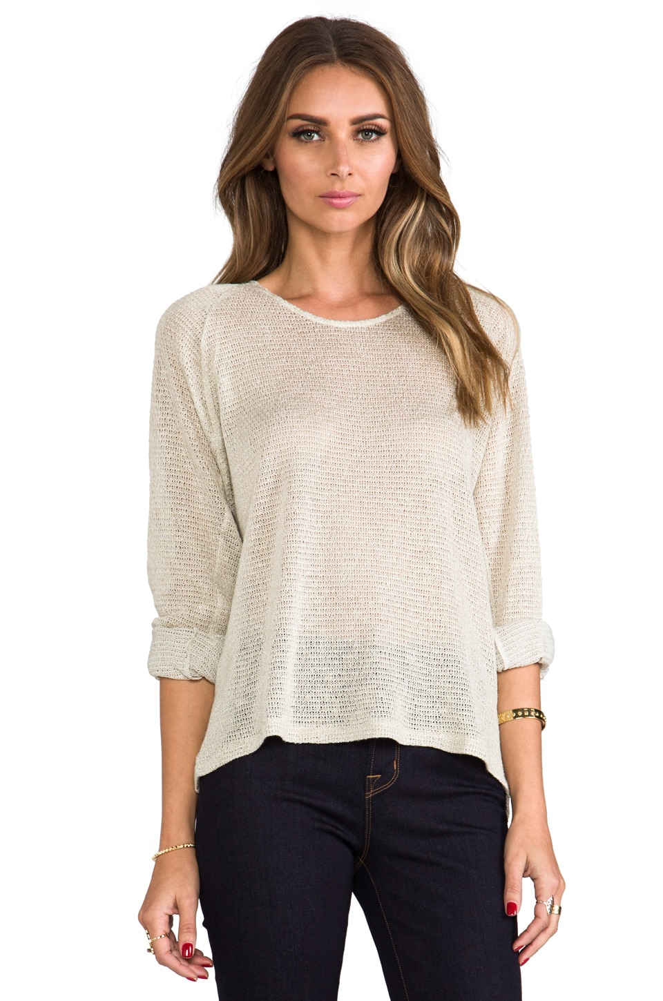 David Michael Sweater G in Sand Knit
