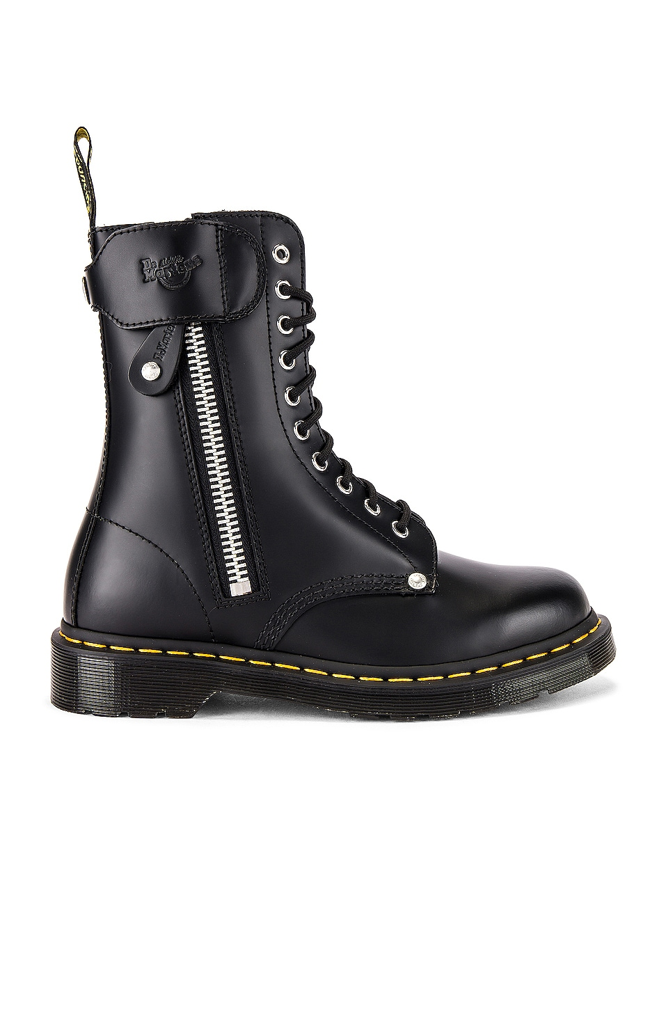 Dr. Martens x Schott 1490 10 Eye Boot in Black