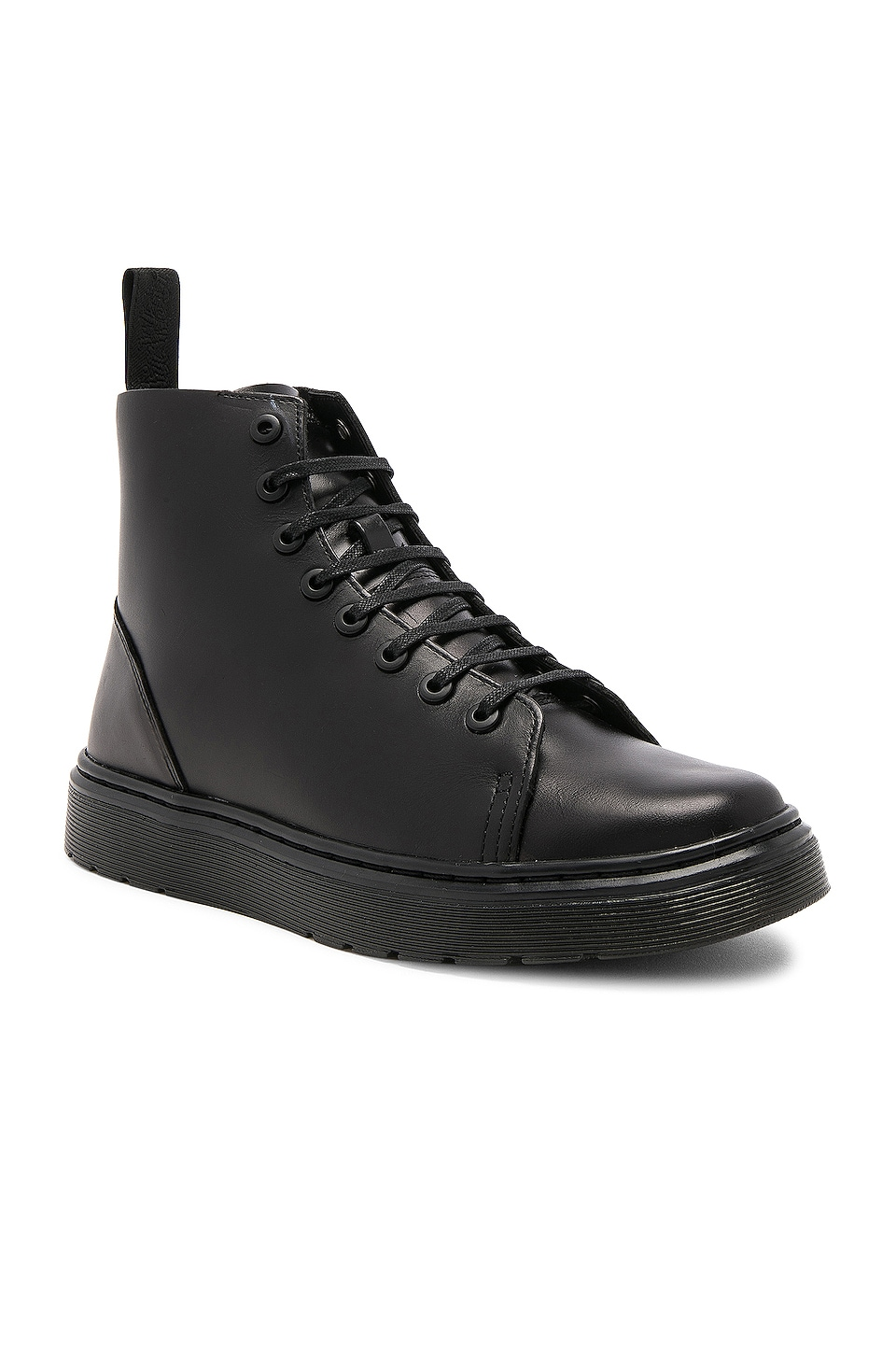 Dr. Martens Talib 8 Eye Leather Boots in Black