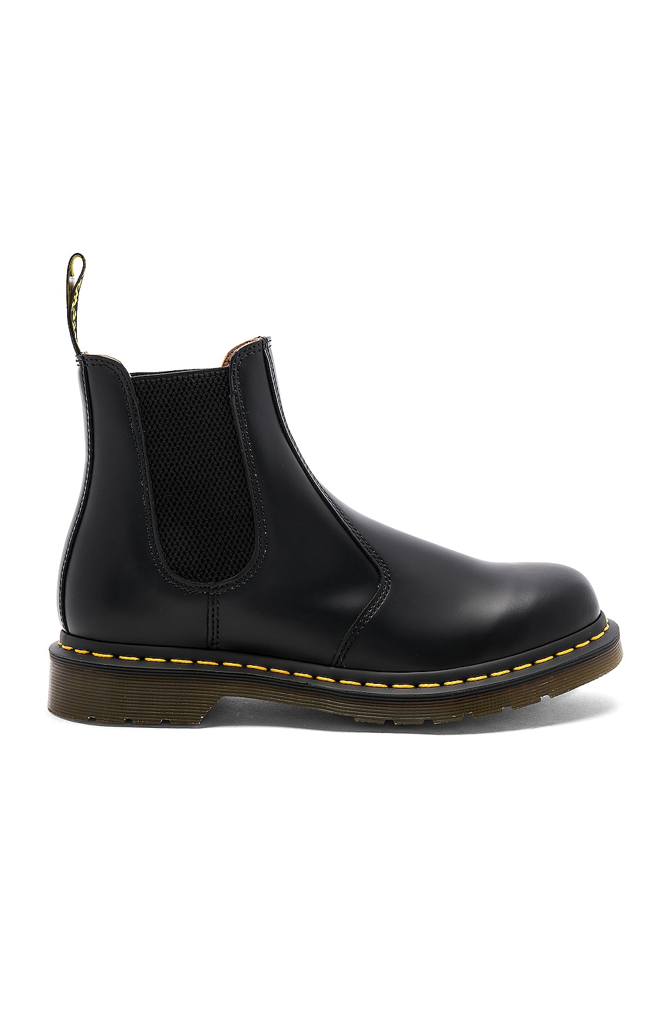 Dr. Martens 2976 Yellow Stitch Boot in Black