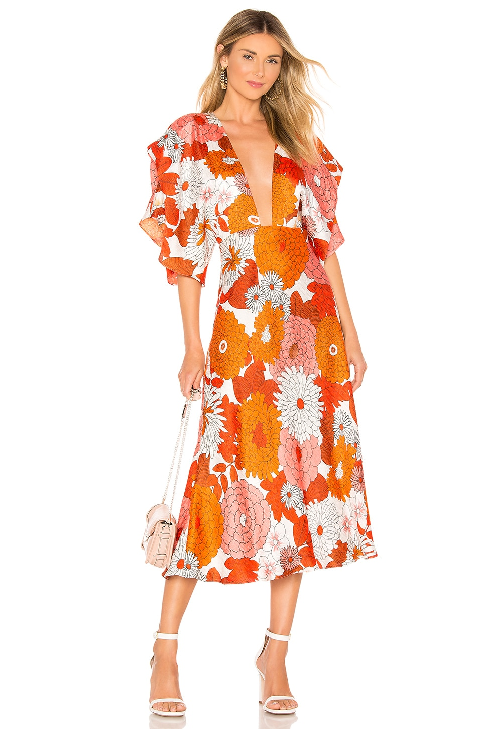 Dodo Bar Or Bernadette Dress in Lorem Orange