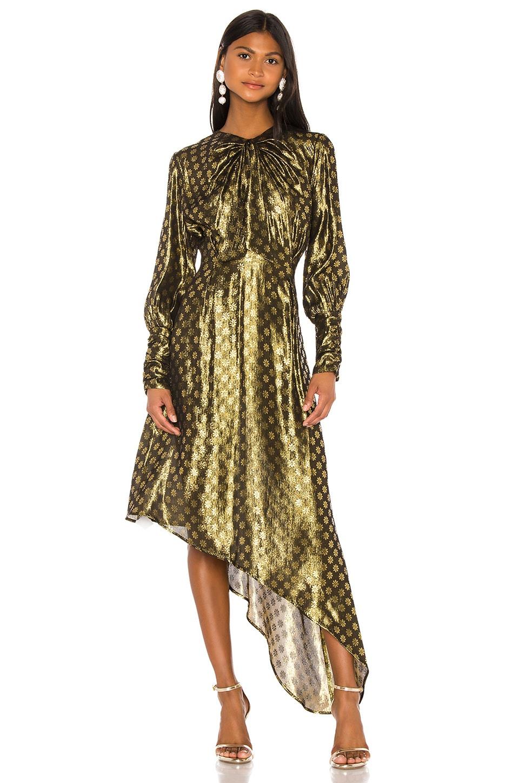 Dodo Bar Or Melodi Lurex Dress in Gold