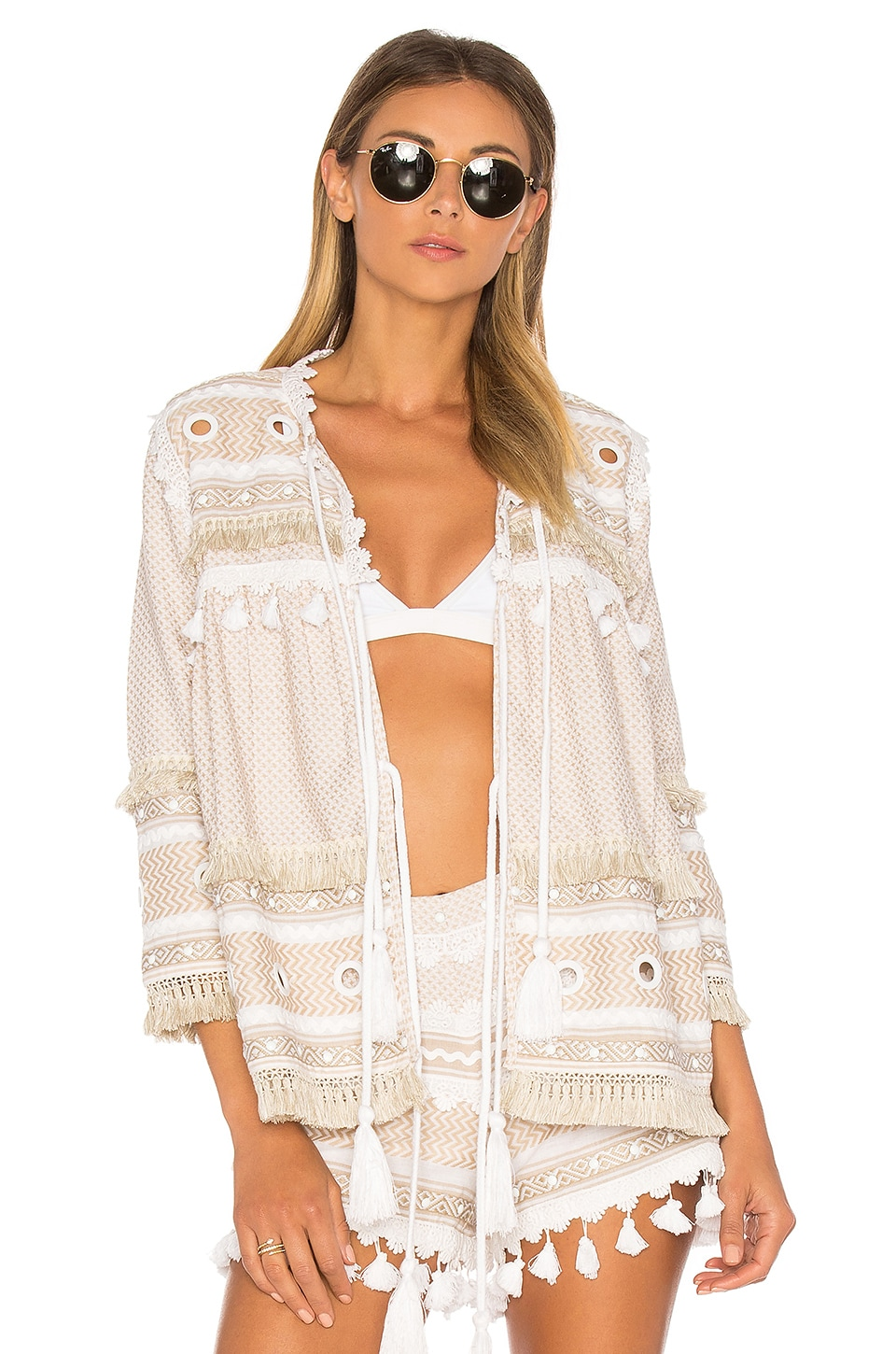 Dodo Bar Or Yehuda Top in Off White & White