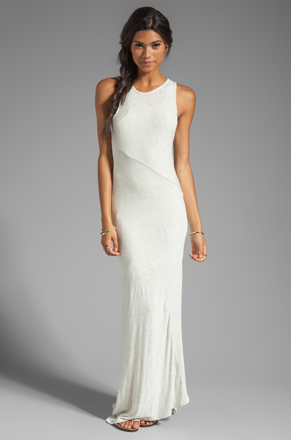 dolan Classic Slub Maxi Dress in Bleach