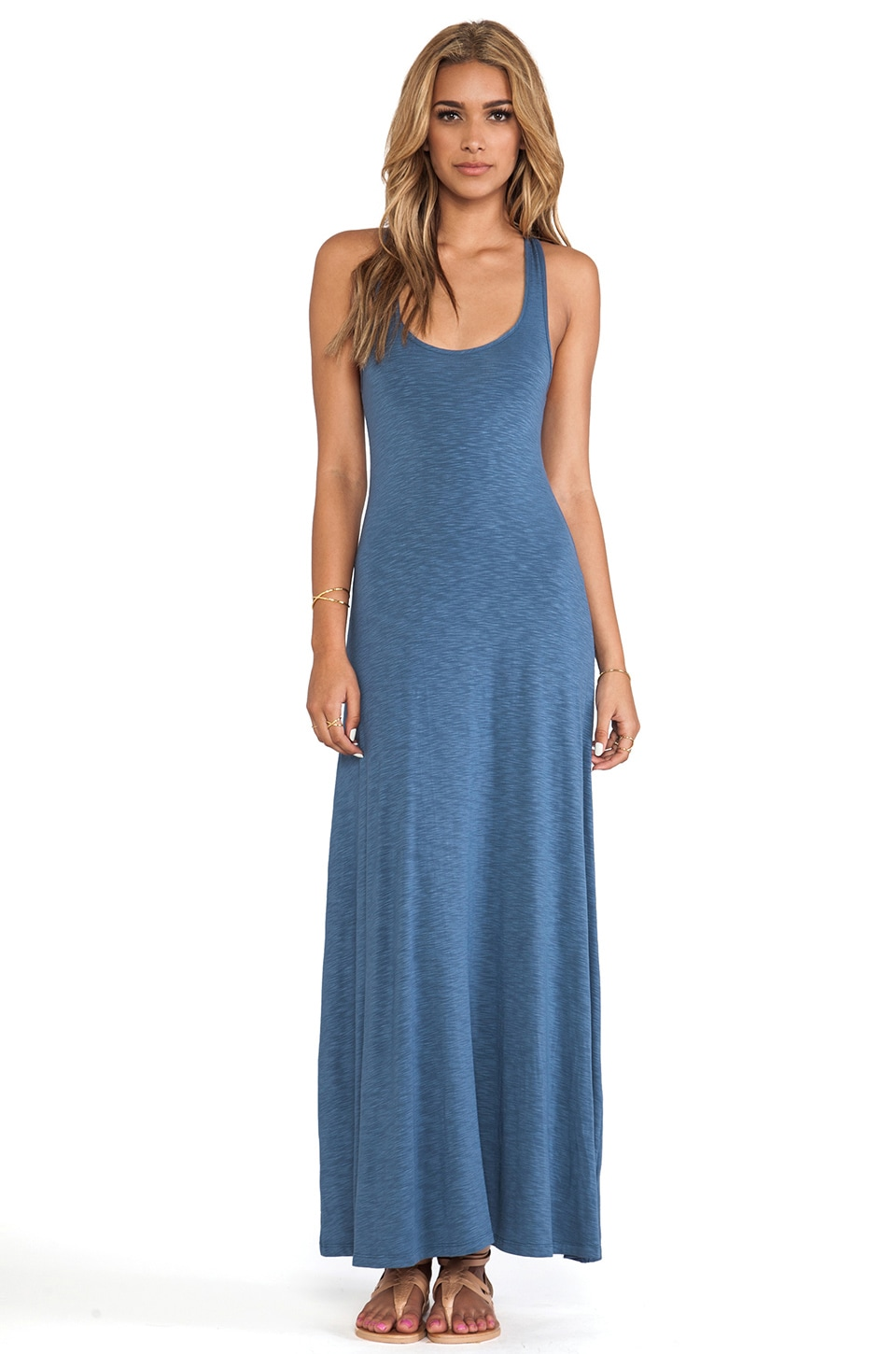 dolan Tank Maxi Dress in Ash Blue