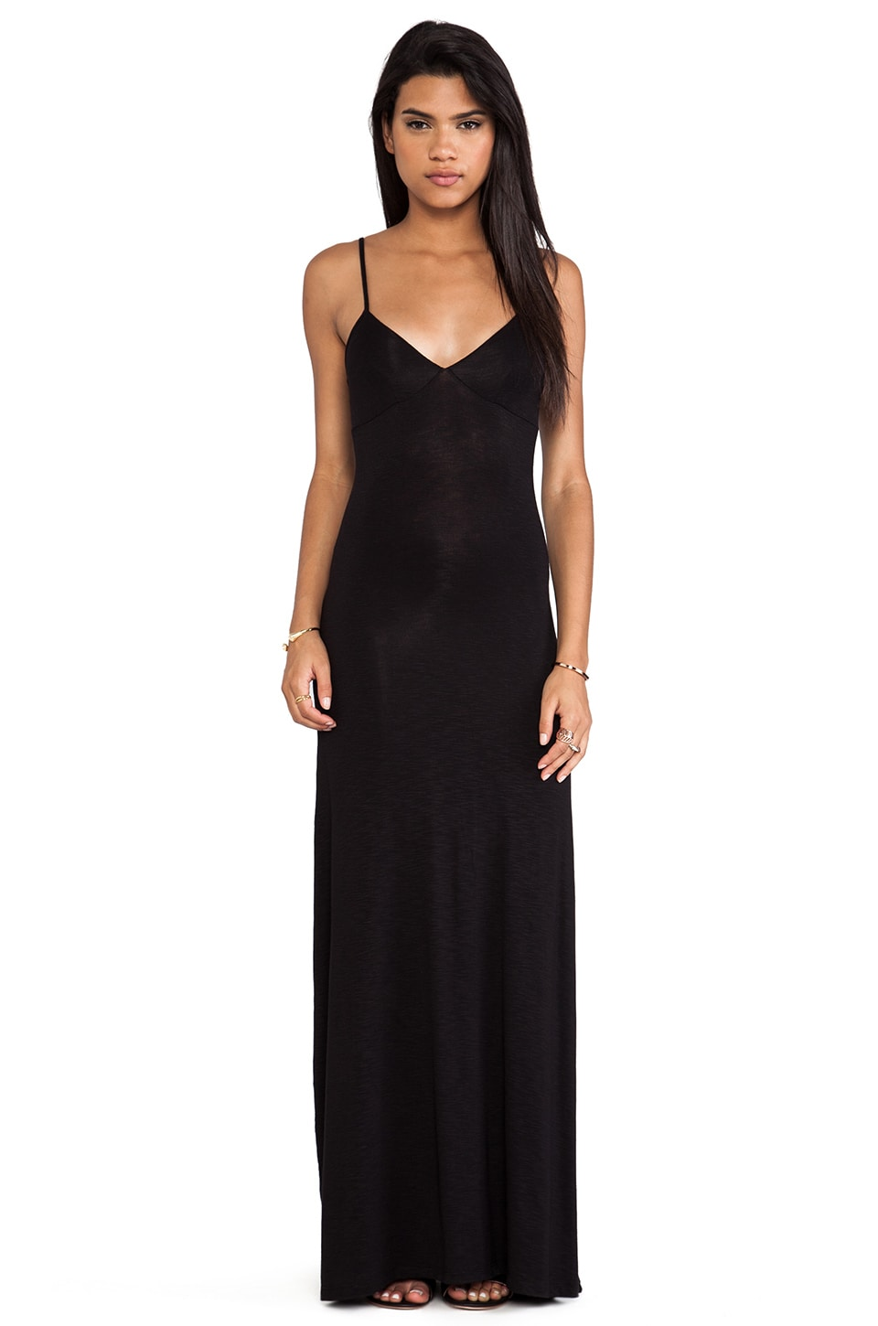 dolan Slip Maxi Dress in Black