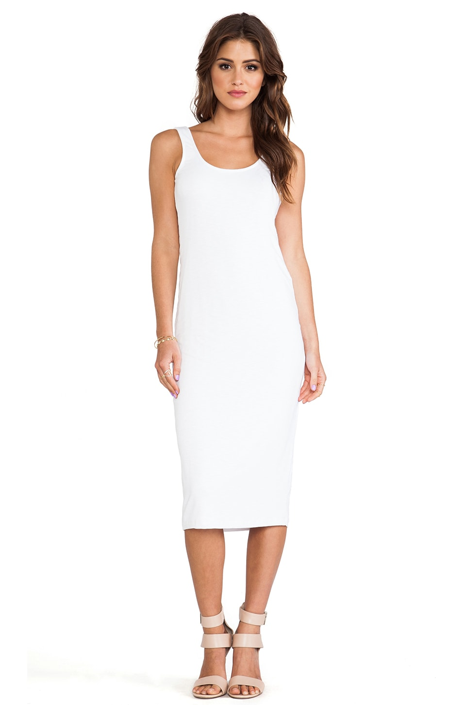dolan U Back Midi Dress in Ivory