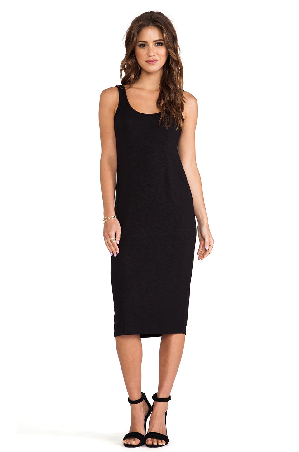 dolan U Back Midi Dress in Black