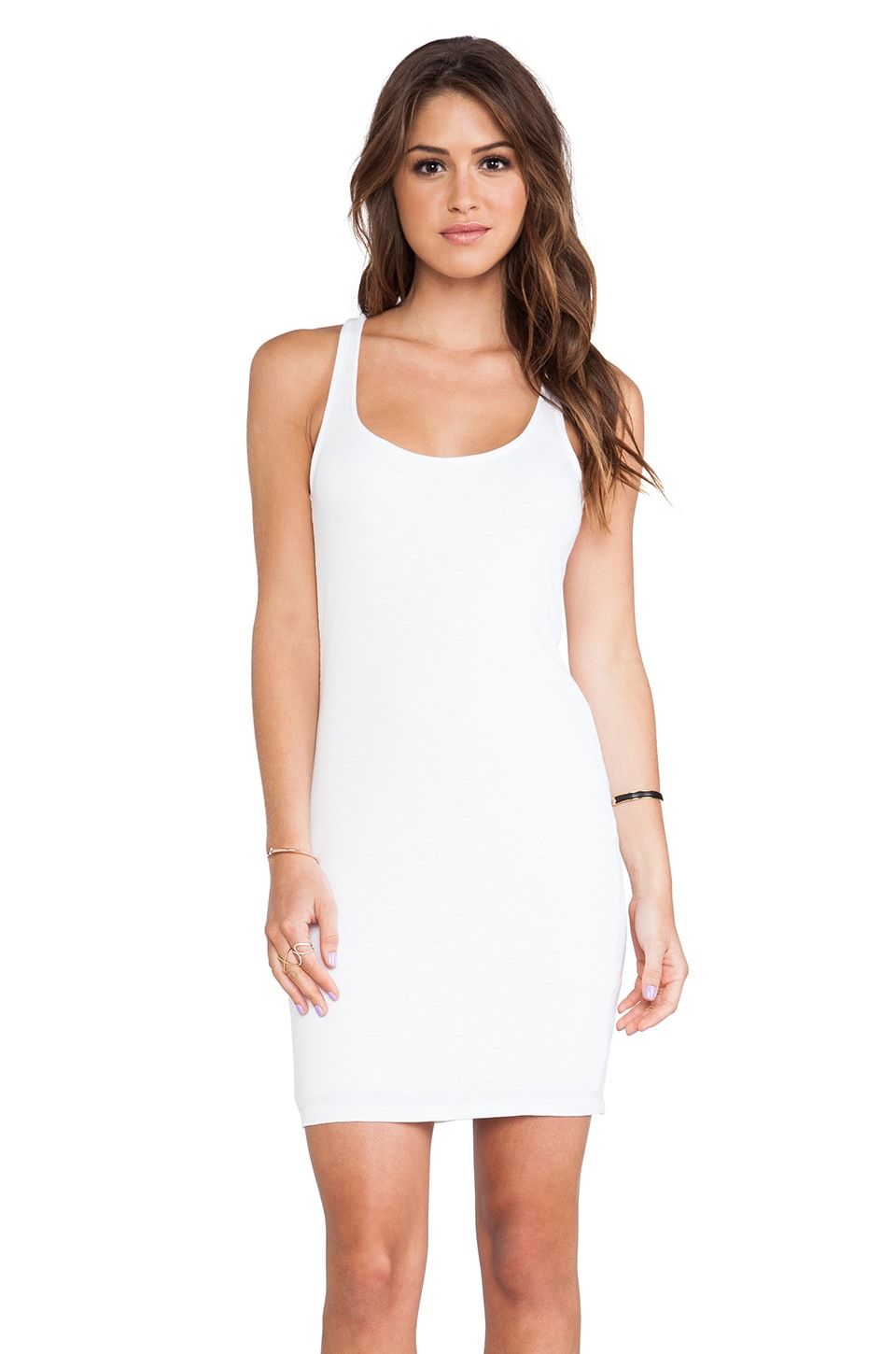dolan Racerback Tank Dress in Ivory