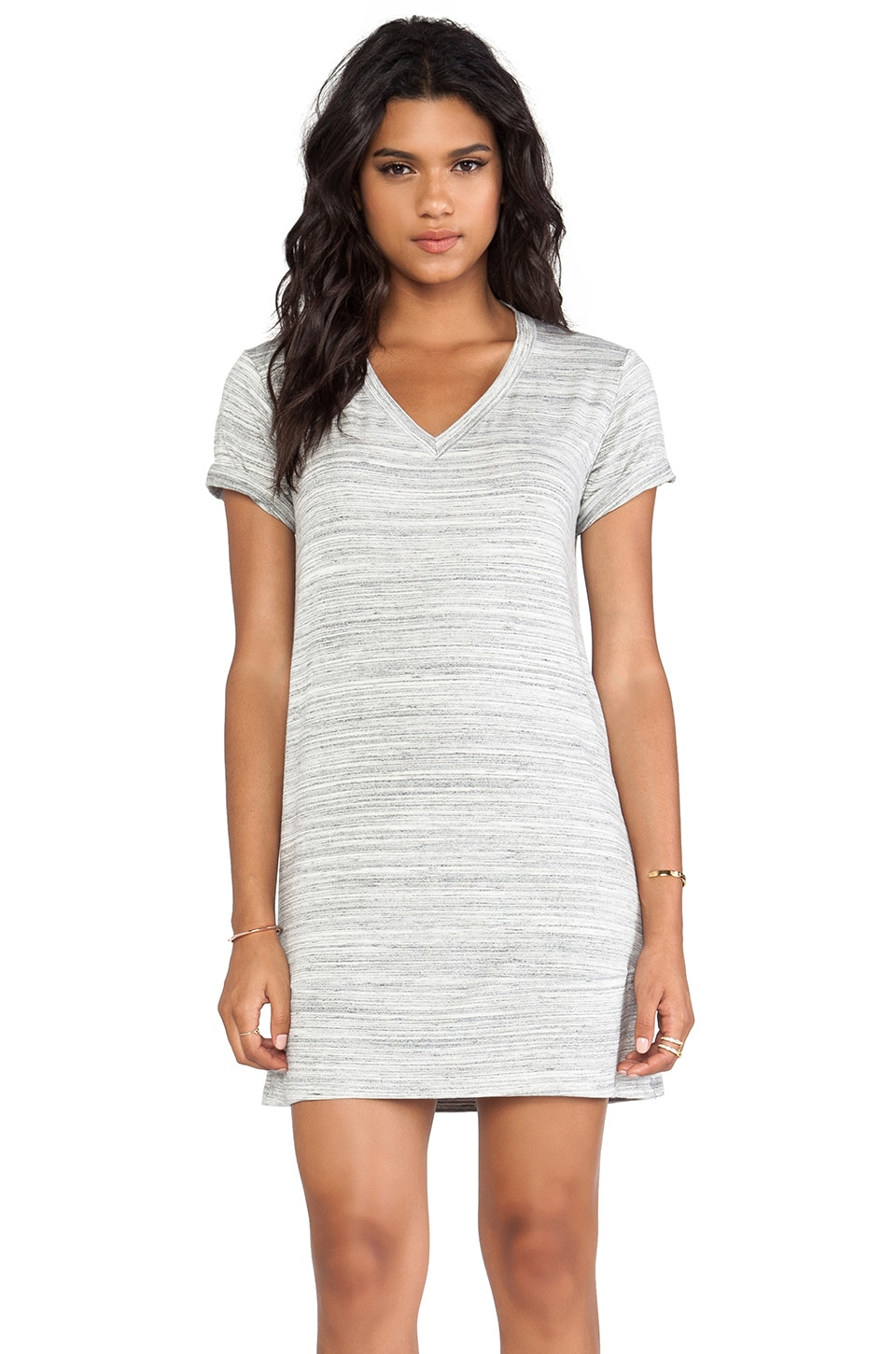 dolan V-Neck T-Shirt Dress in Marble