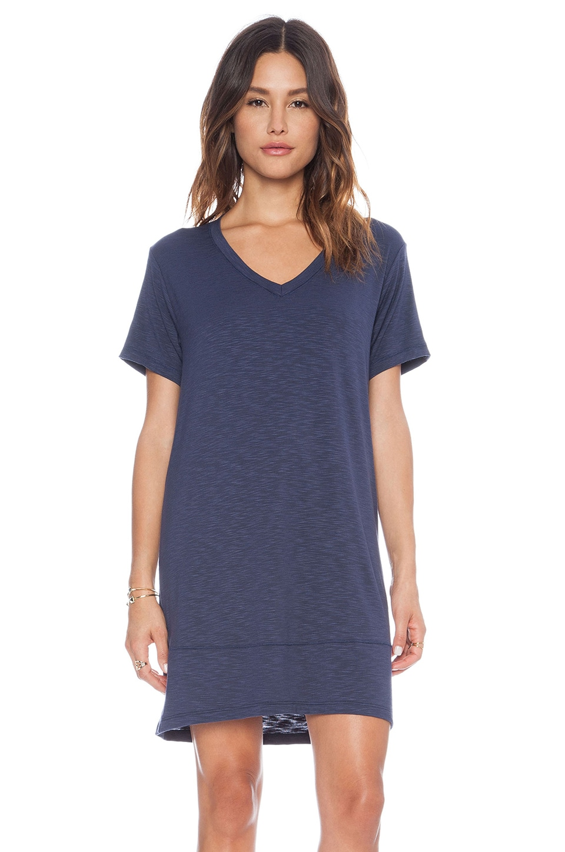 dolan V-Neck T-Shirt Dress in Night