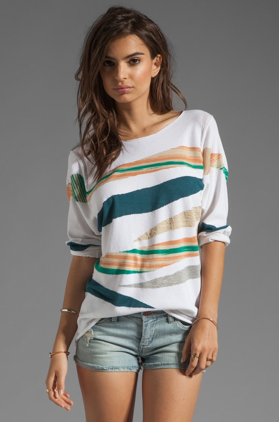 dolan Intarsia Sweater in Sea