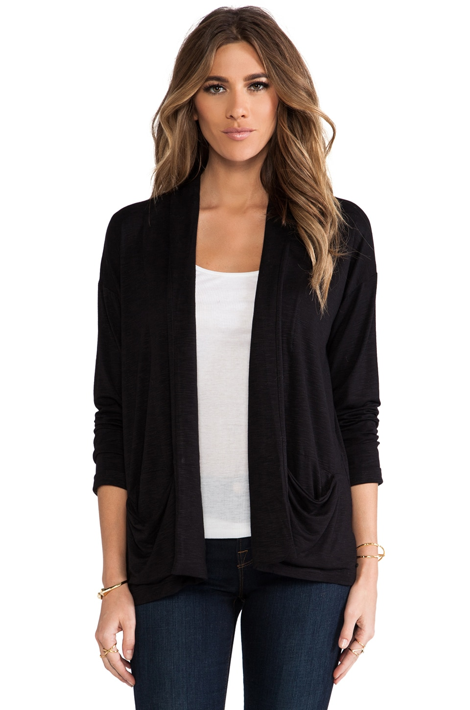 dolan Grandpa Cardigan in Black