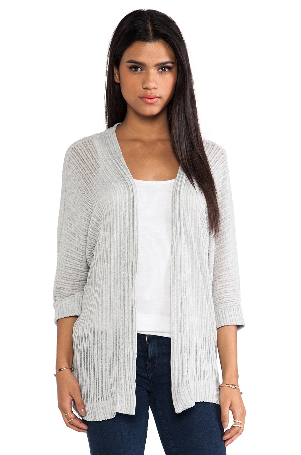 dolan Open Knit Cardigan in Caspian Grey