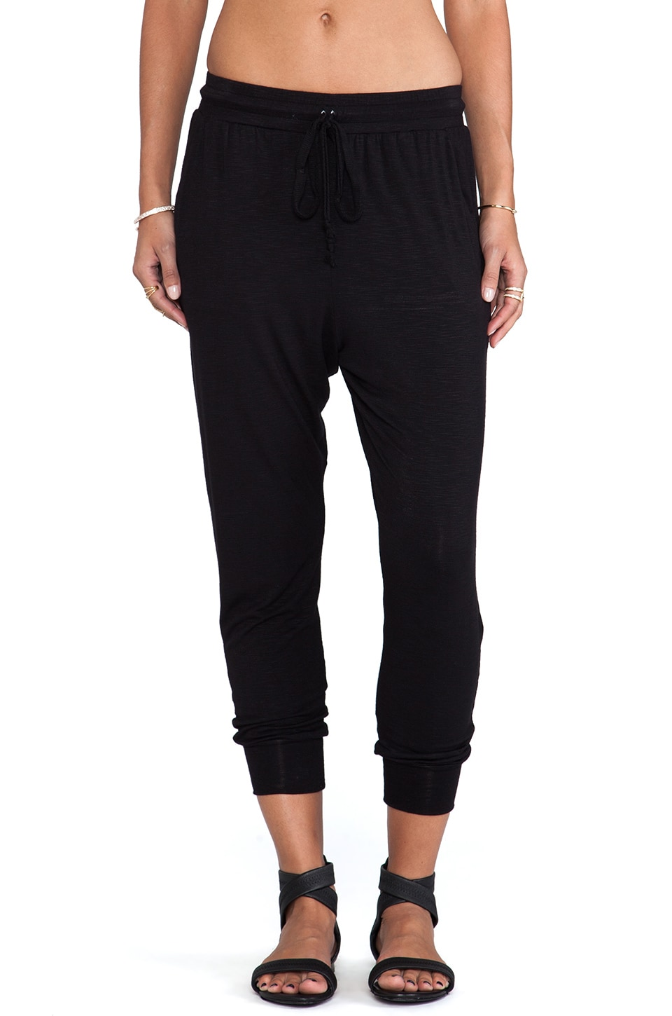 dolan Drop Crotch Easy Pant in Black