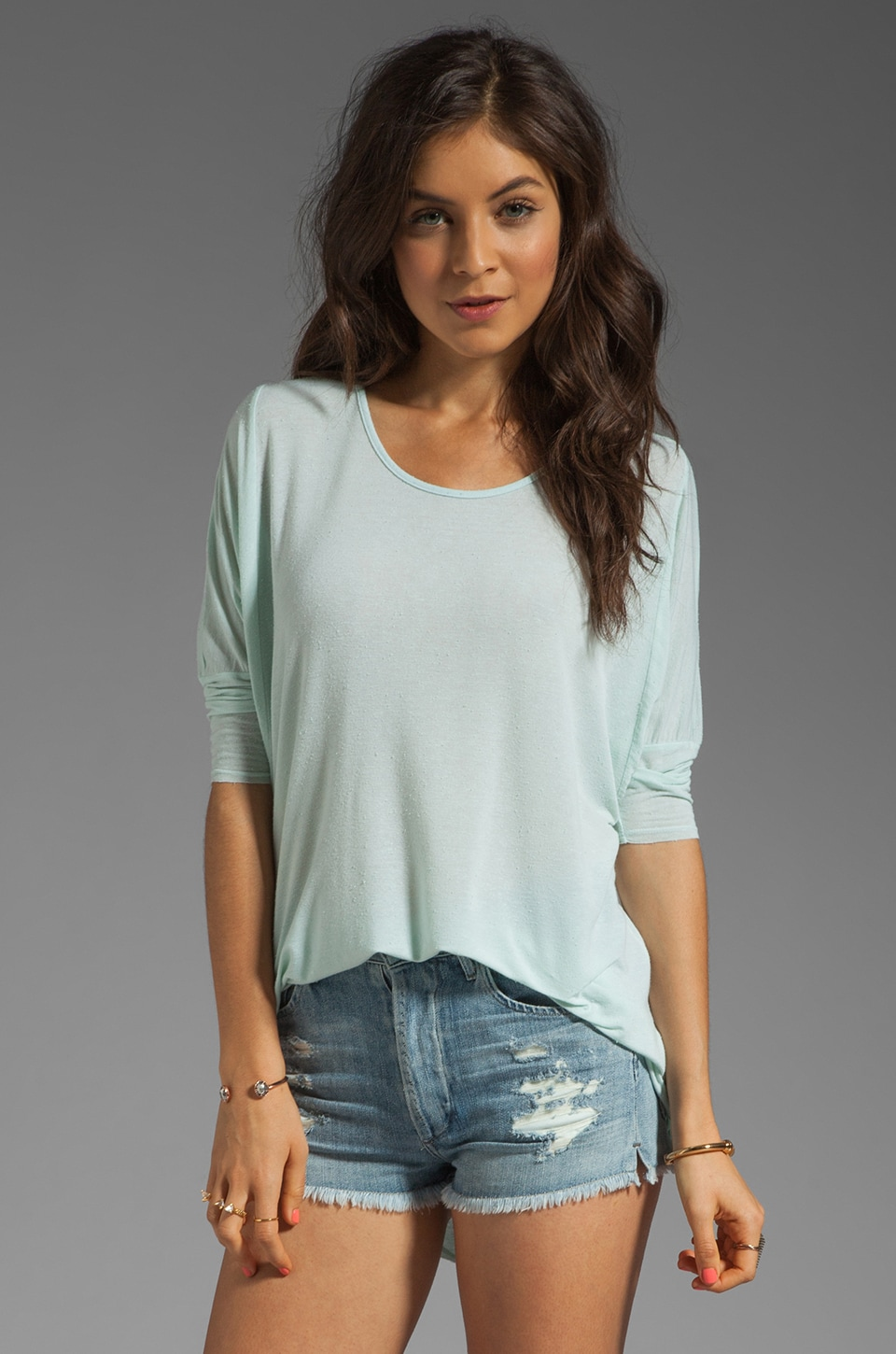 dolan Silk Jersey Oversized Tee in Mint