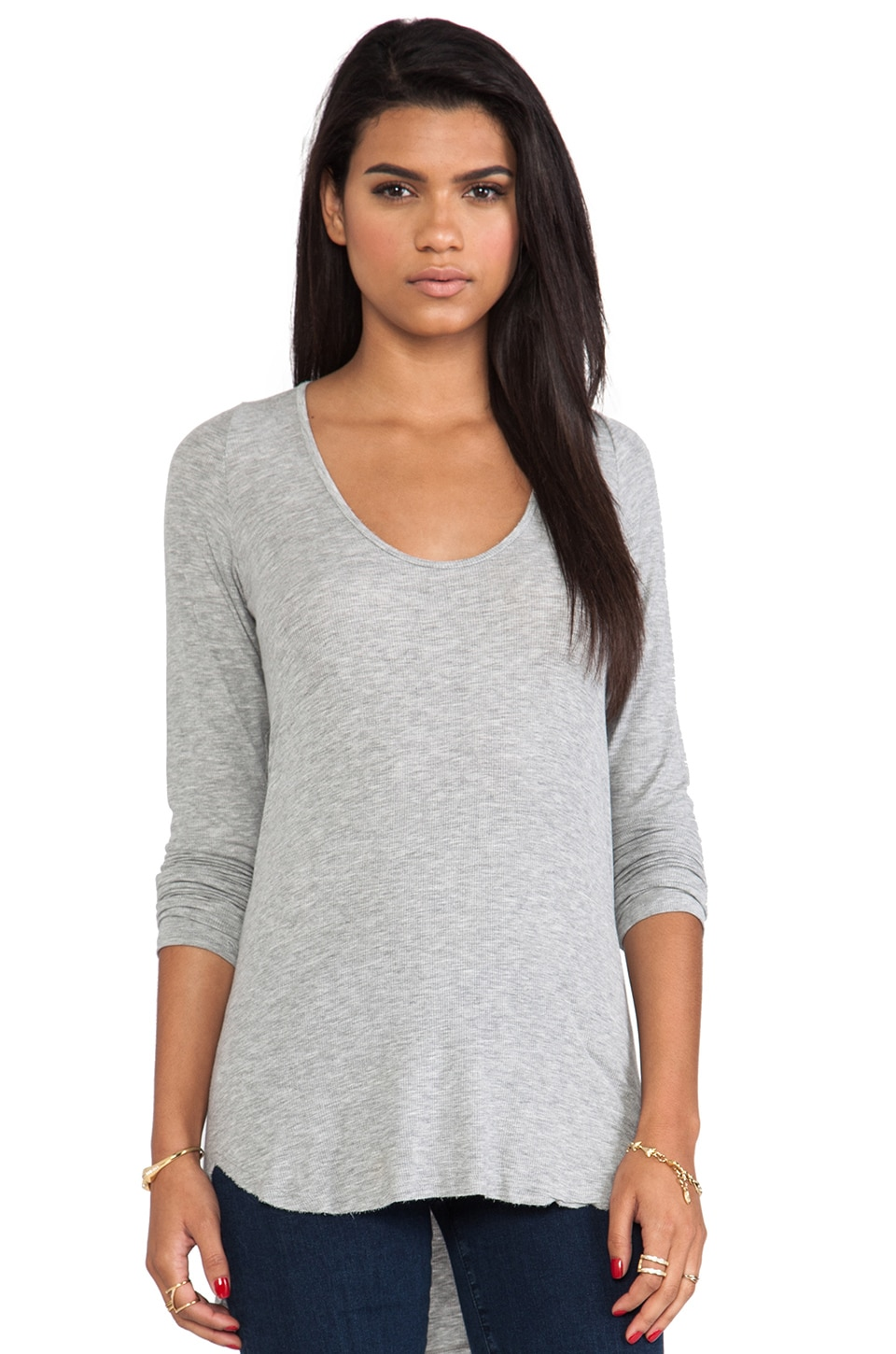 dolan Long Sleeve Tee in Silver