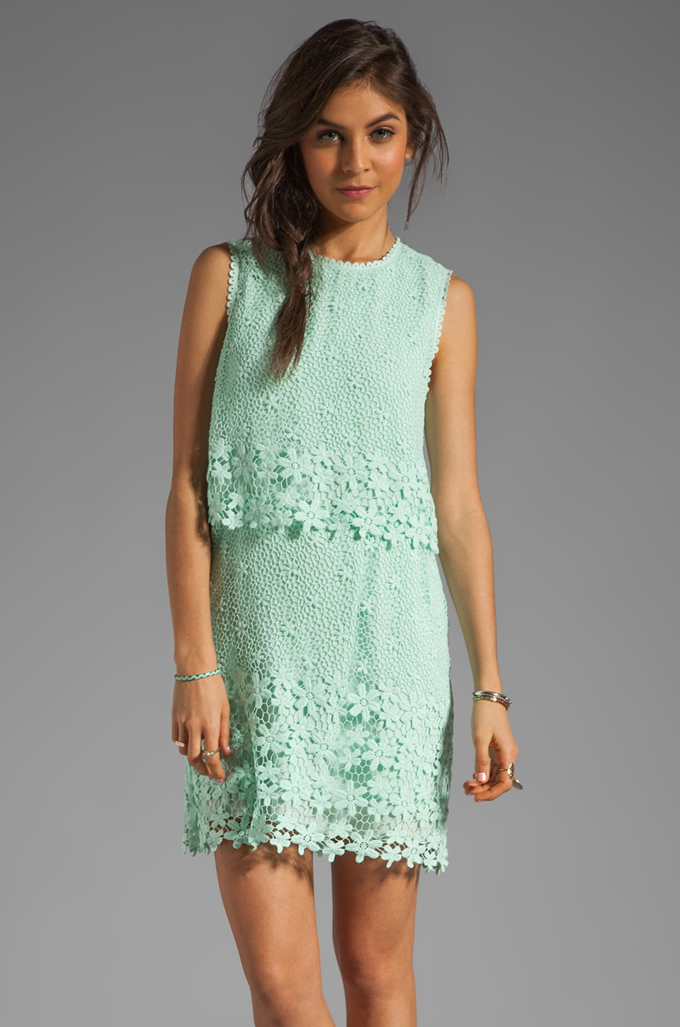 Dolce Vita Aceline Daisy Lace Dress in Mint