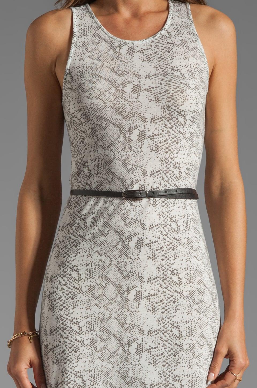 Dolce Vita Lynnie Snake Print Maxi in White/Black