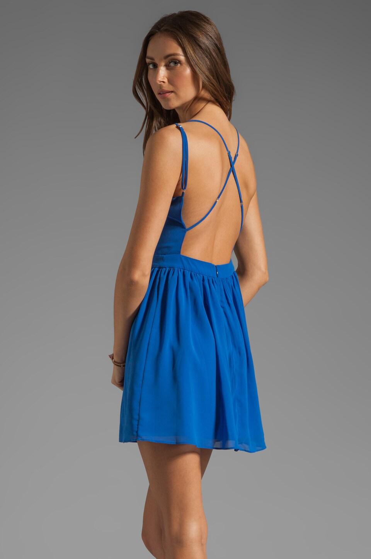 Dolce Vita Hanni Soft Plaid Tank Dress in Cobalt Blue