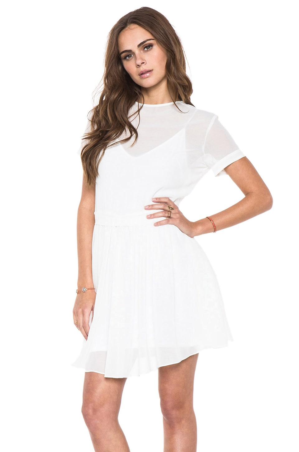 Dolce Vita Scott Short Sleeve Dress in White