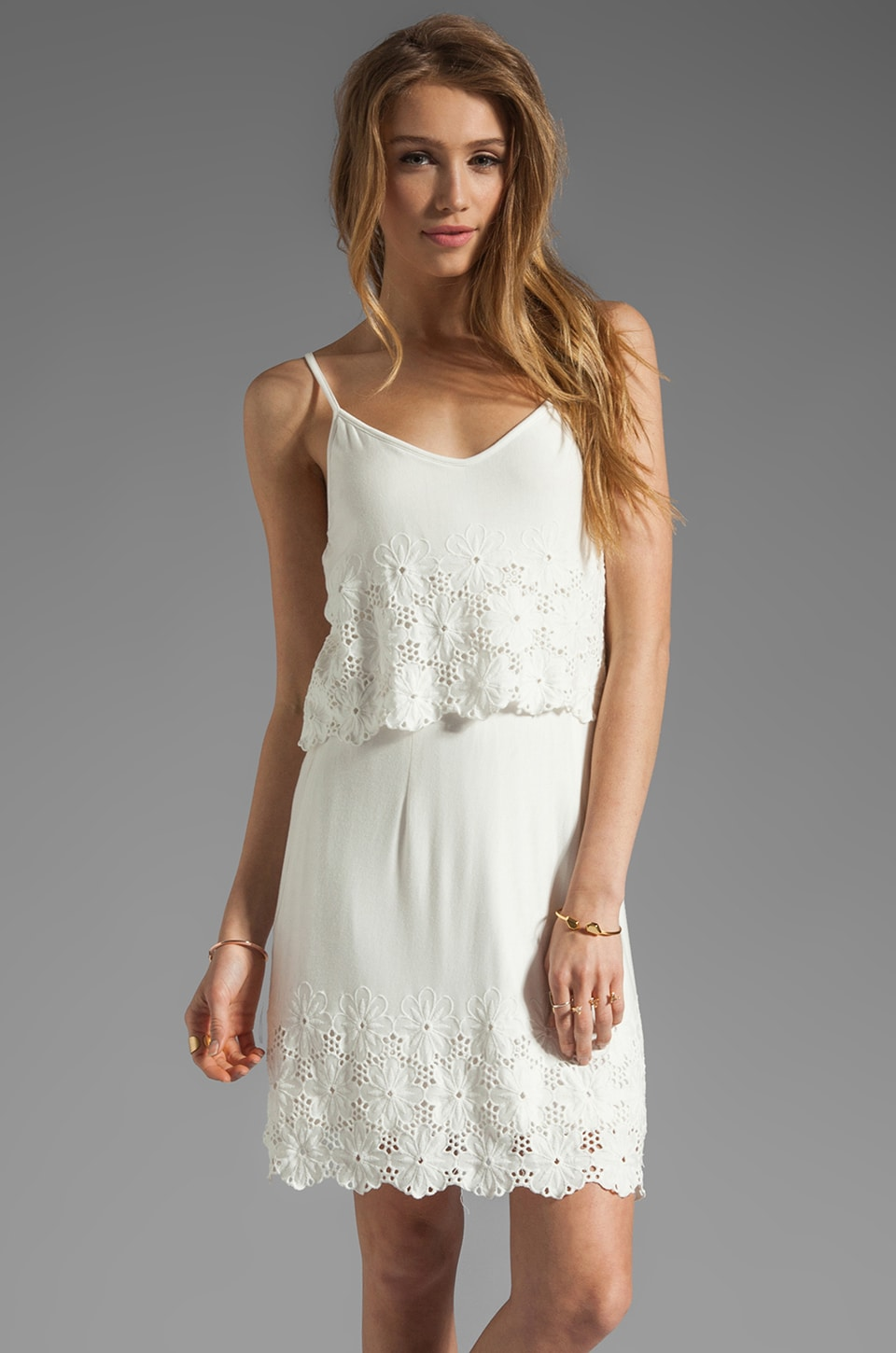 Dolce Vita Jeralyn Hem Daisy Tank Dress in White