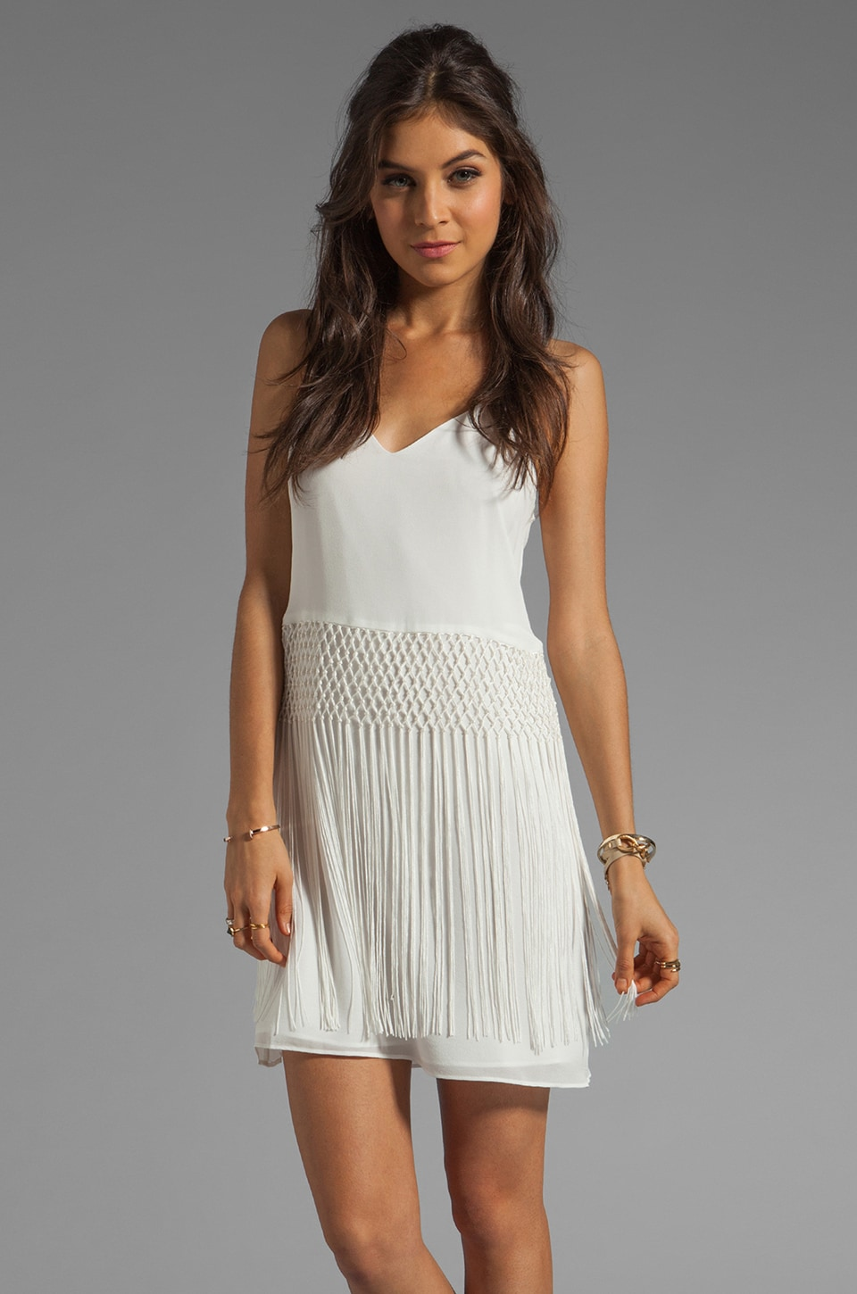 Dolce Vita Kimi Fringe Dress in White