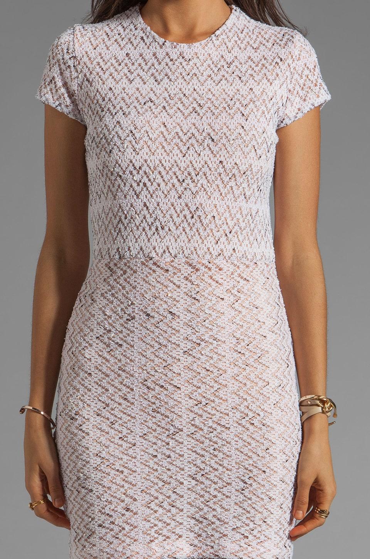 Dolce Vita Ren Zigzag Crochet Short Sleeve Dress in White
