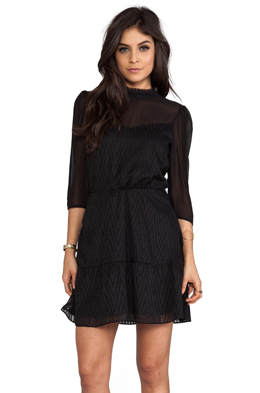 Dolce Vita Halia Zigzag Dobby Dress in black