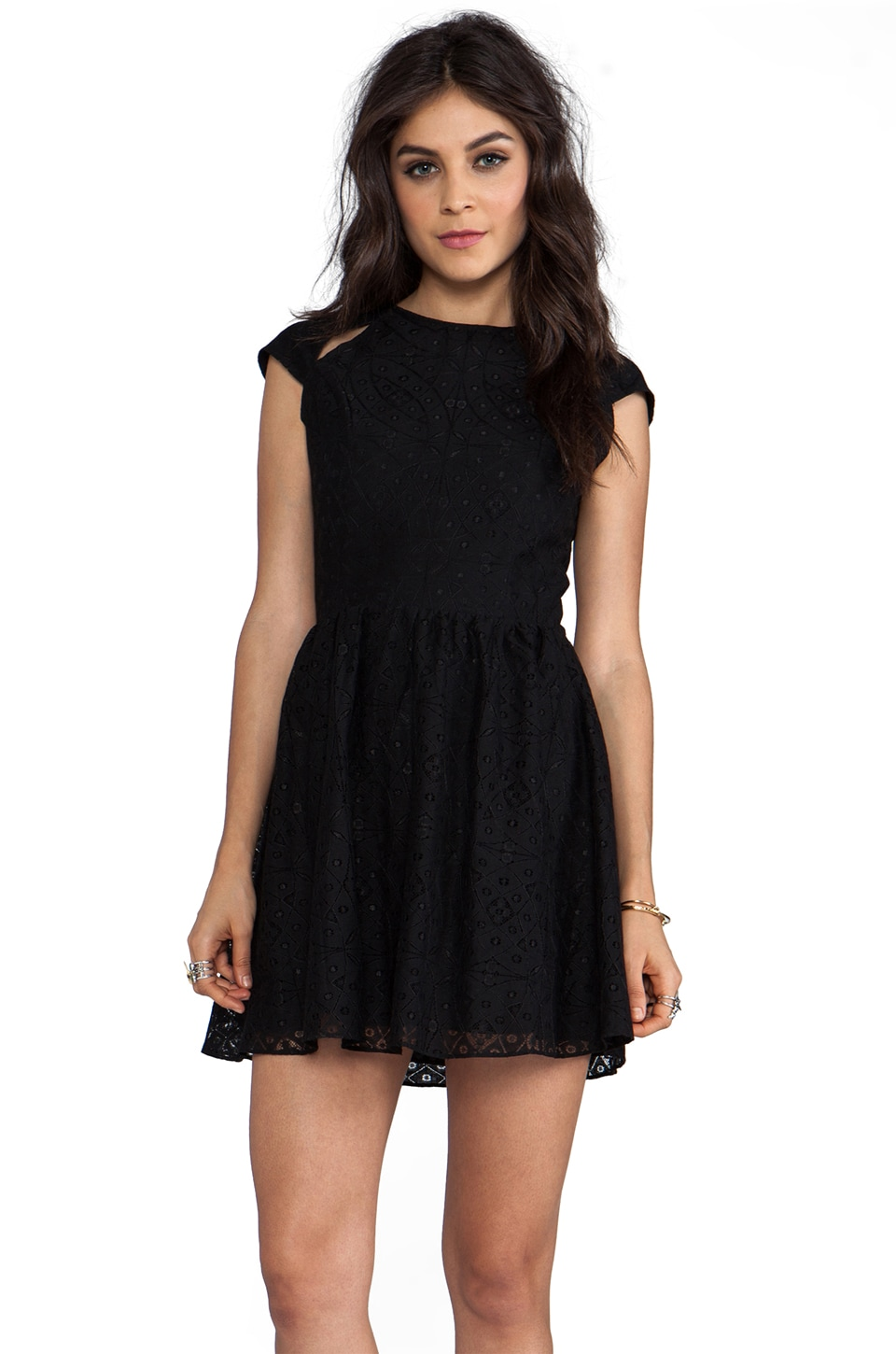 Dolce Vita Alishia Pattern Lace Dress in Black