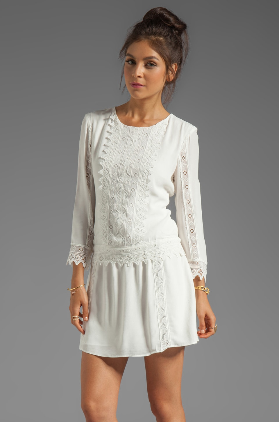 Dolce Vita Teresa Edgy Lace Dress in White