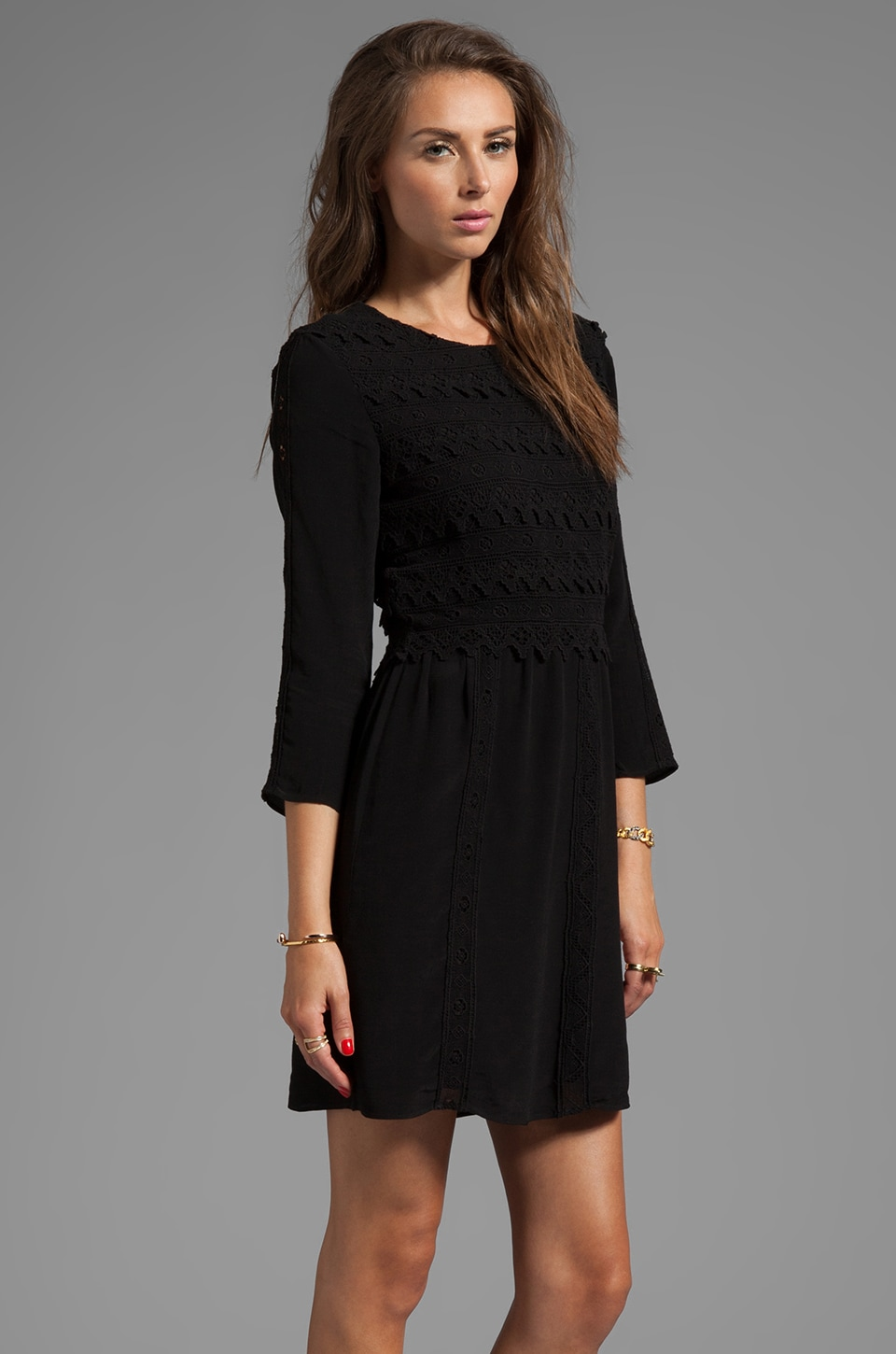 Dolce Vita Dosa Edgy Lace Dress in Black