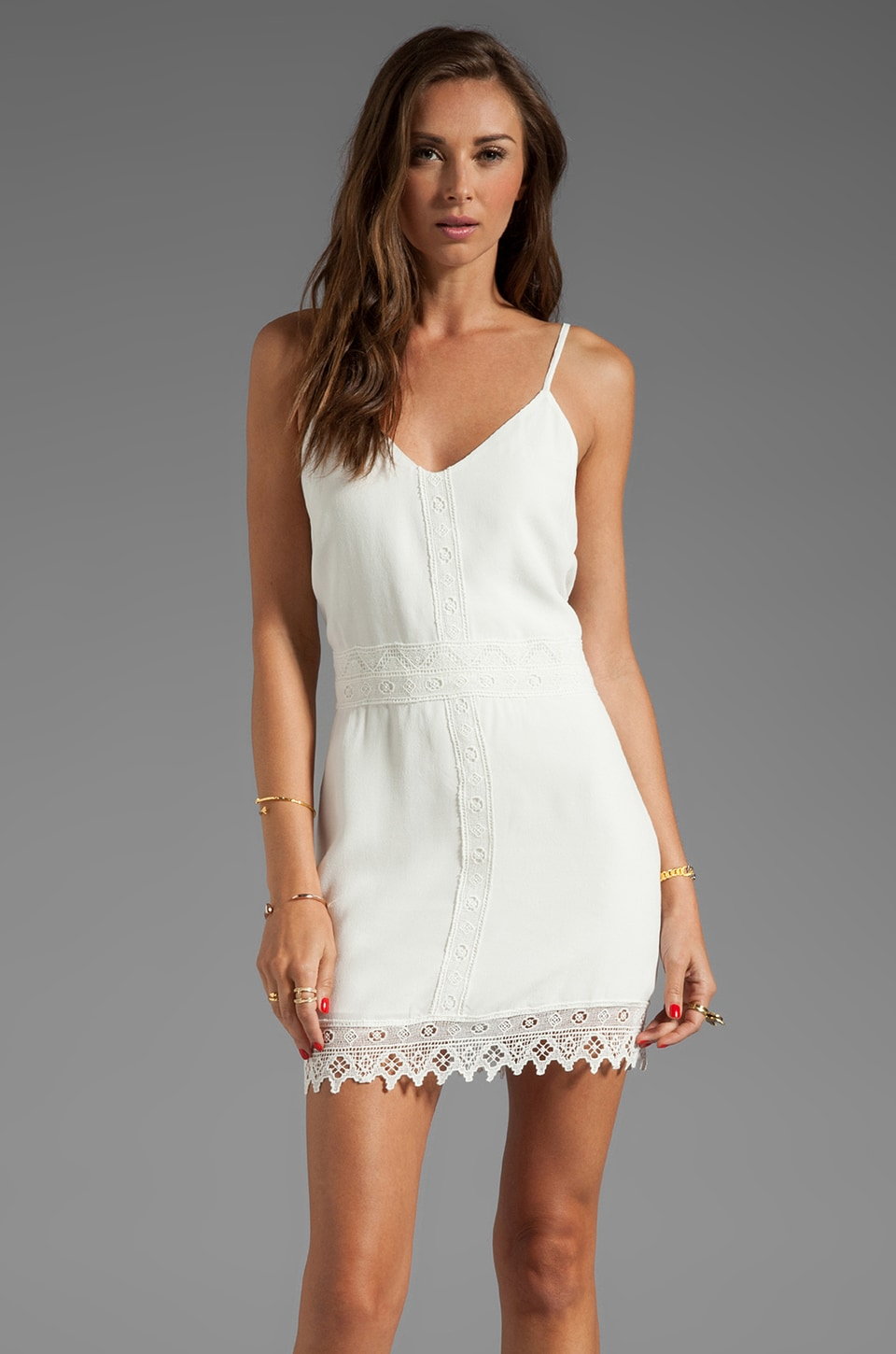 Dolce Vita Byzantine Edgy Lace Dress in White