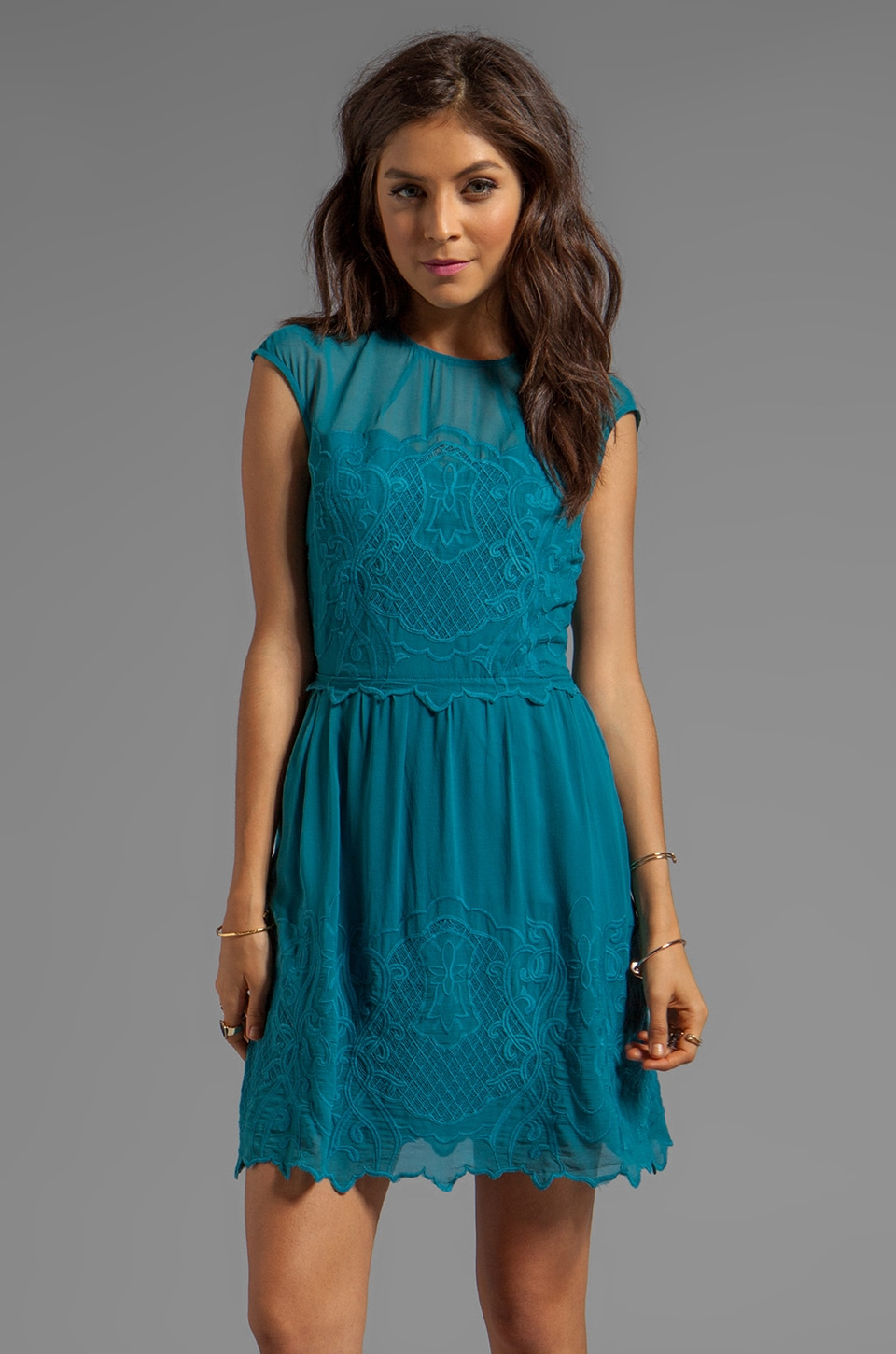 Dolce Vita Kloey New Baroque Dress in Teal