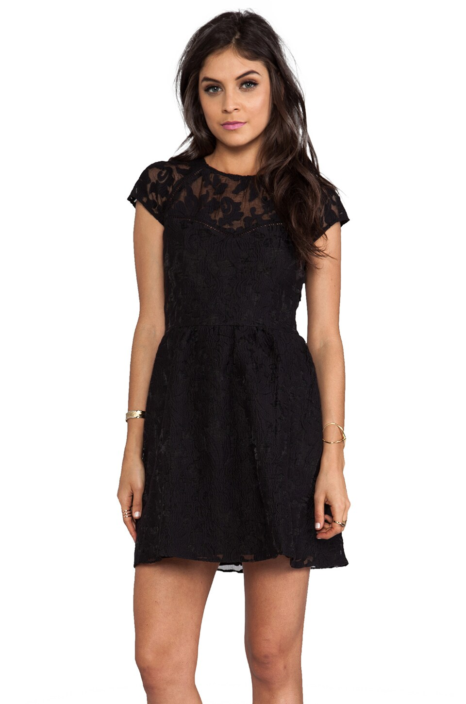 Dolce Vita Winsor Organza Lace Dress in Black