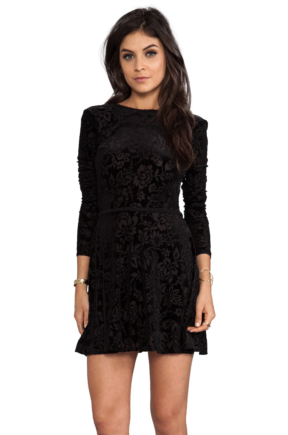 Dolce Vita Azalia Stretch Velvet Dress in Black