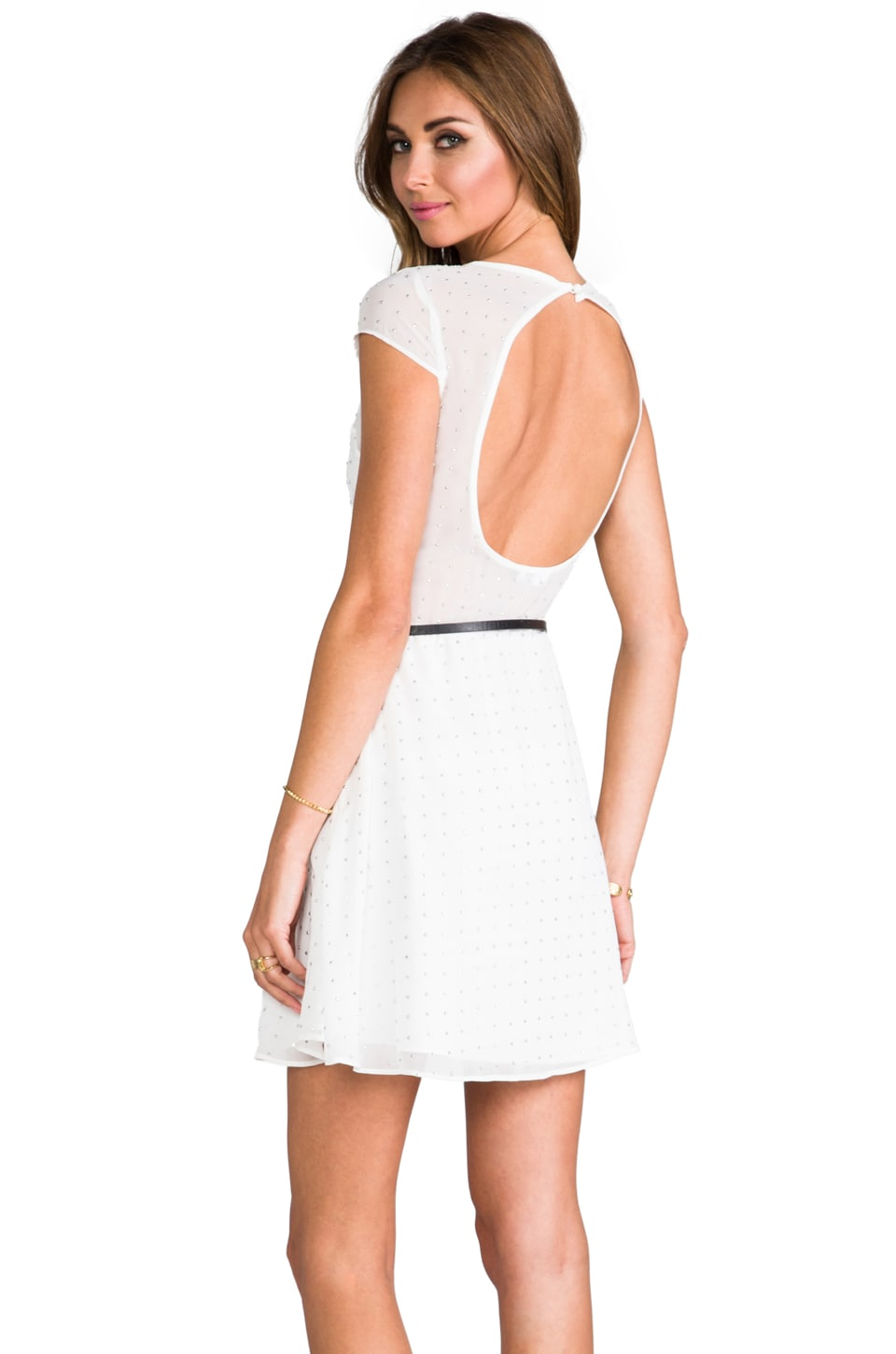 Dolce Vita Lia Crystal Dress in White