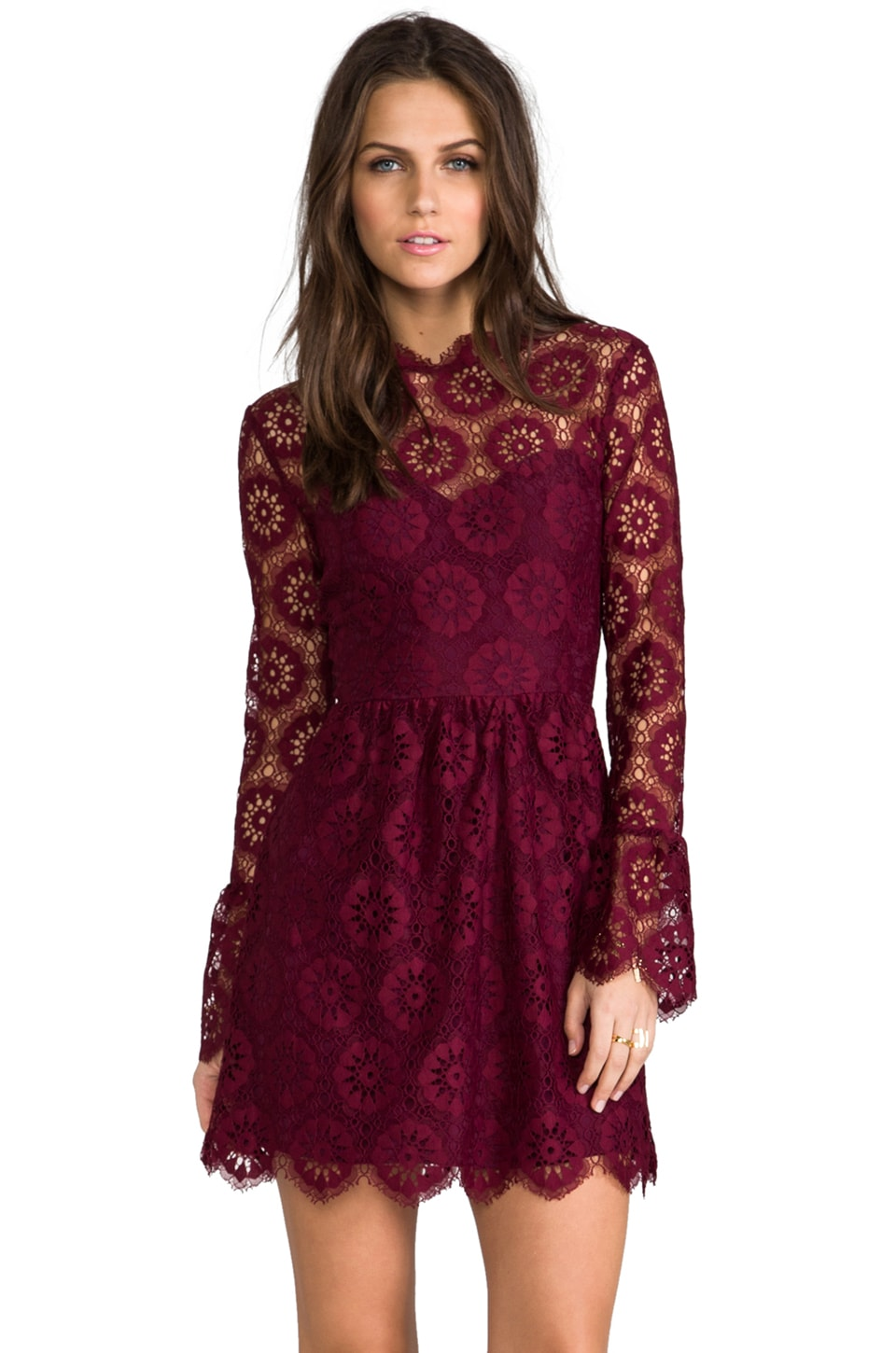 Dolce Vita Pisaro Lace Dress in Raspberry