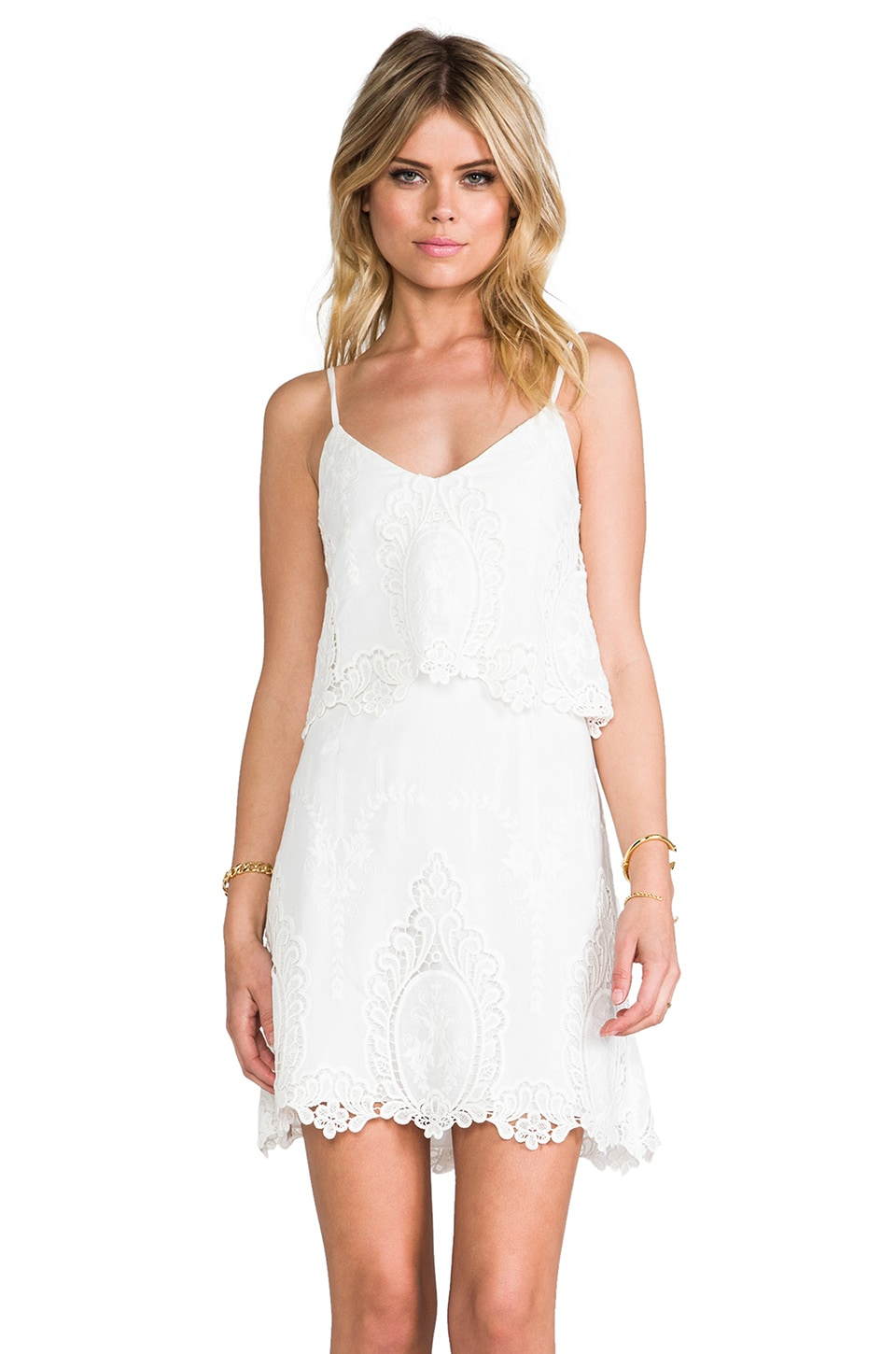 Dolce Vita Jeralyn Dress in White & Natural