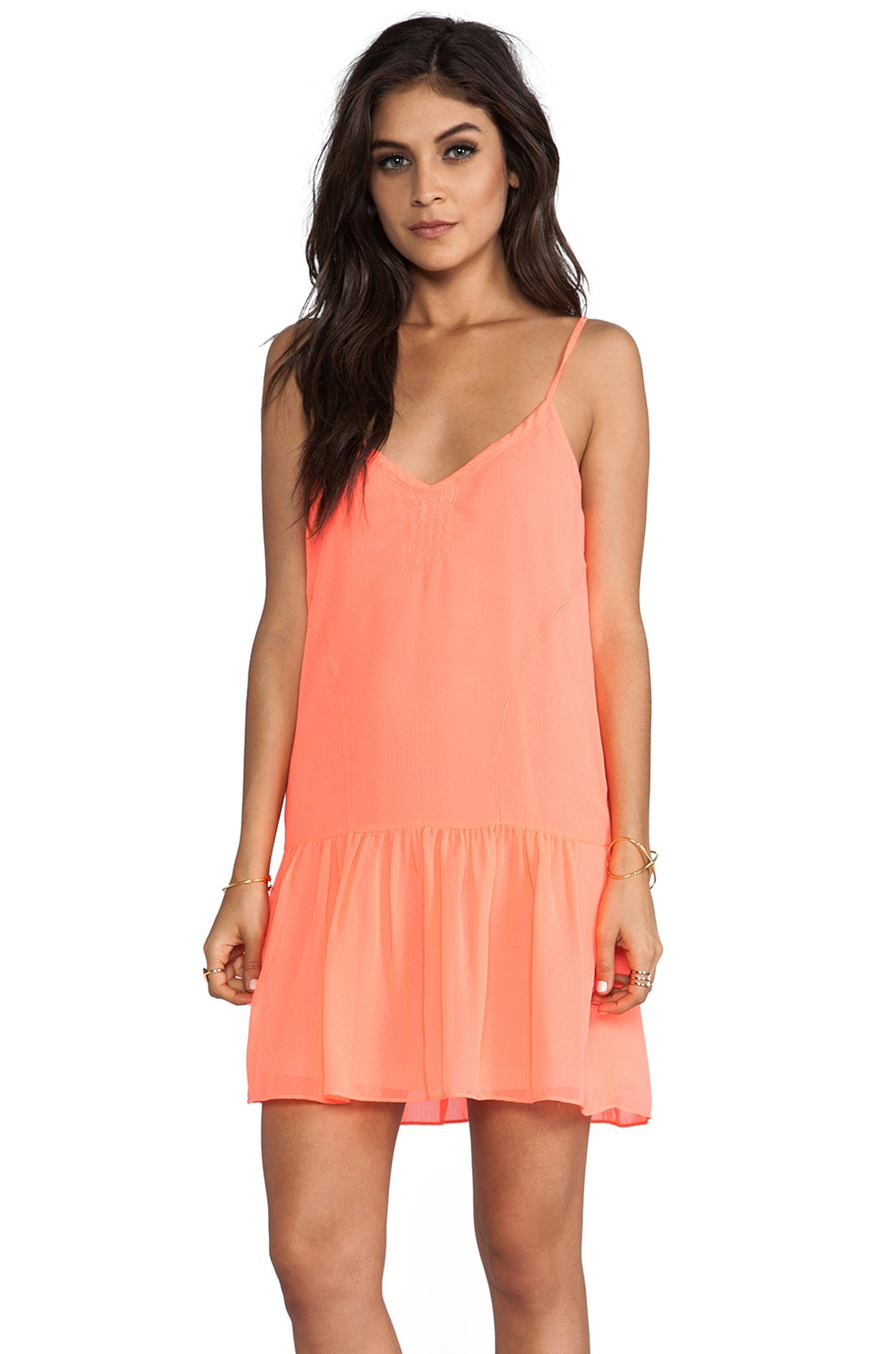 Dolce Vita Tinsel Dress in Neon Coral