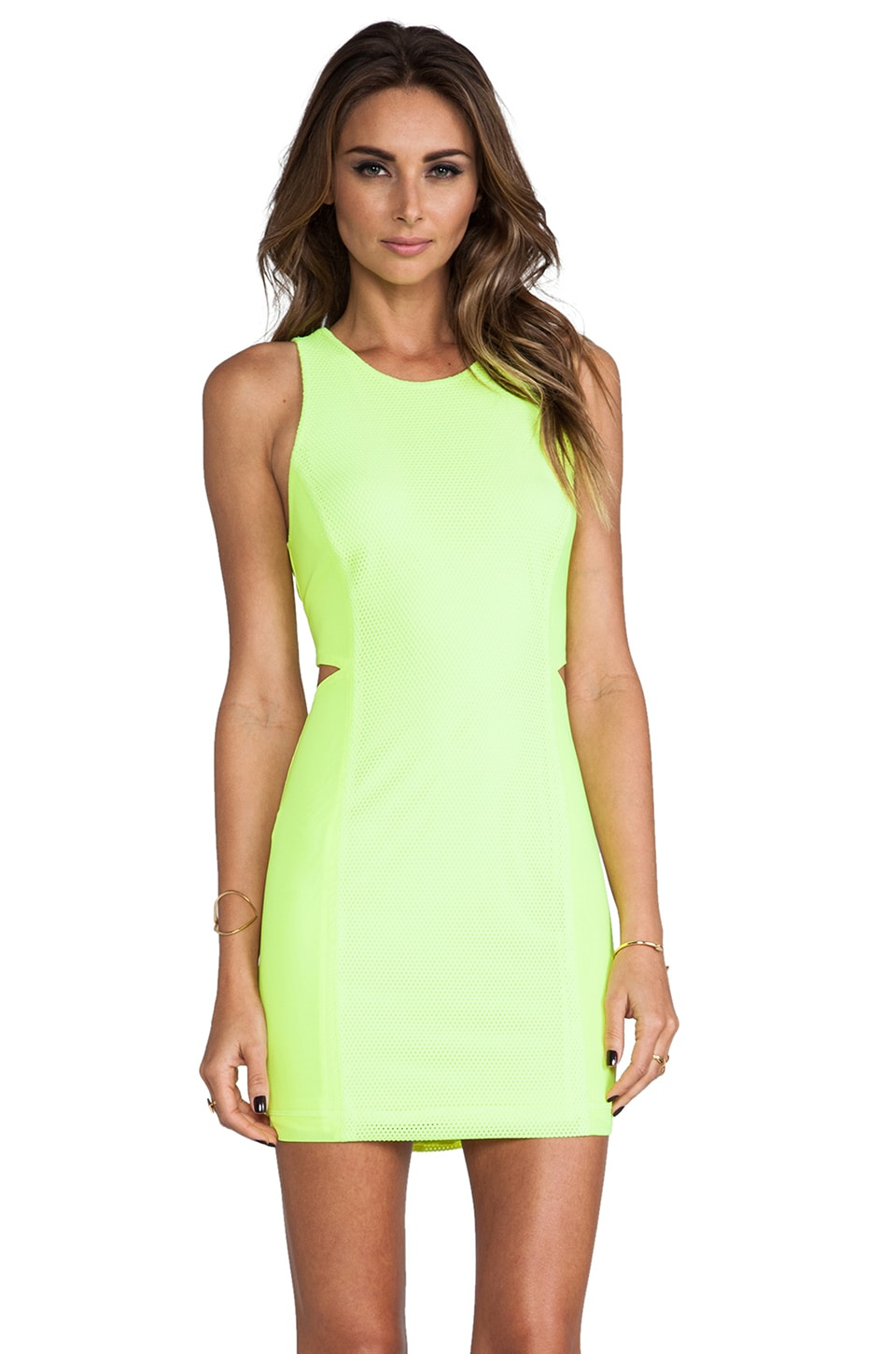 Dolce Vita Pernita Dress in Neon Yellow
