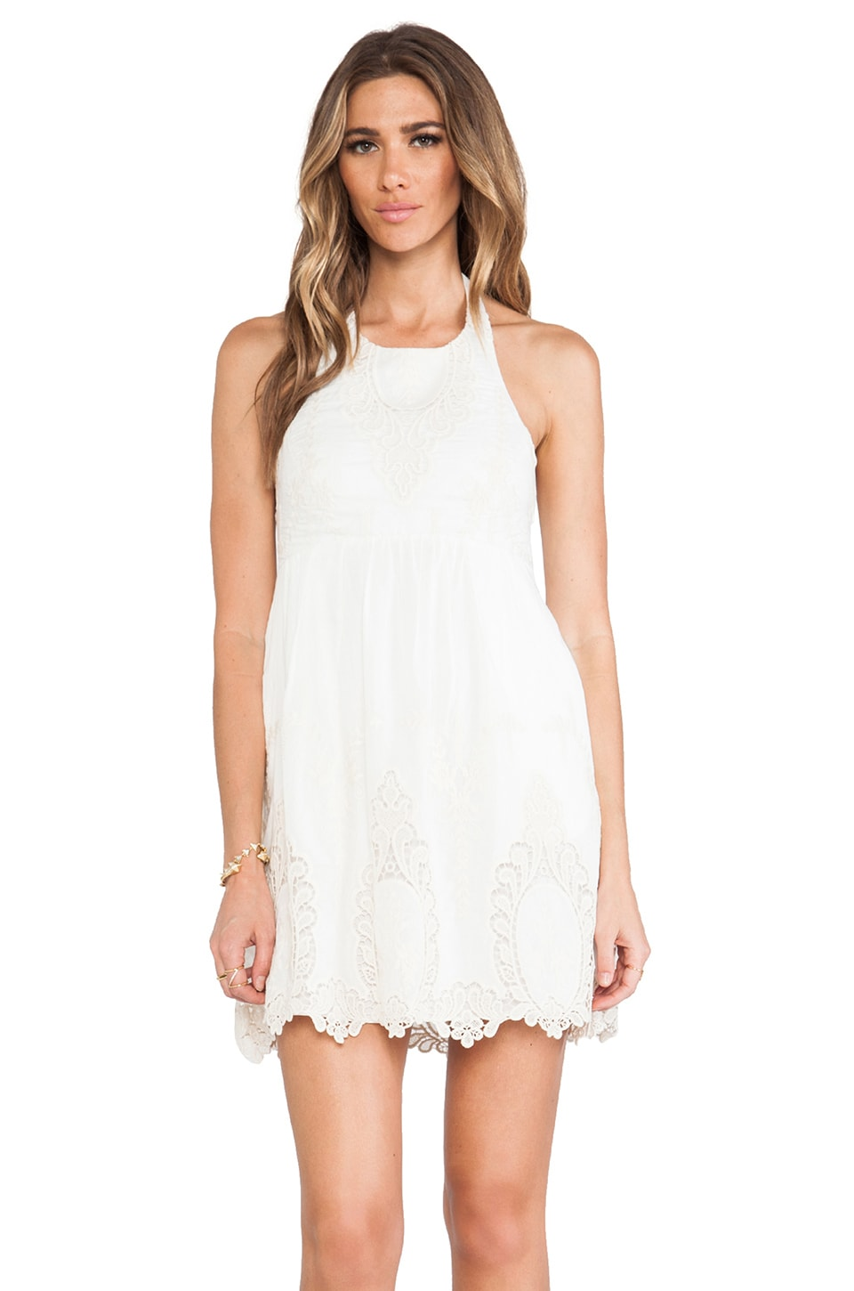 Dolce Vita Adelina Dress in White & Natural