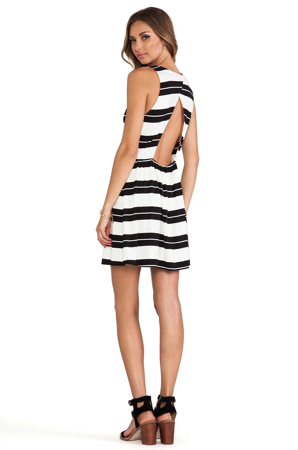Dolce Vita Hafeza Dress in Black Stripe
