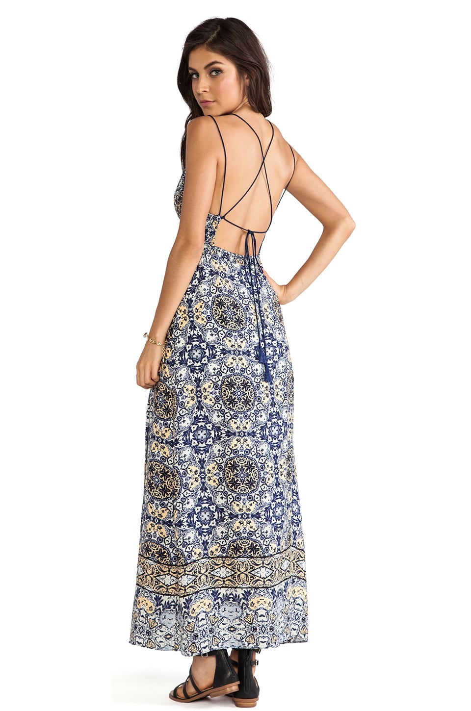 Dolce Vita Ayat Dress in Blue Print