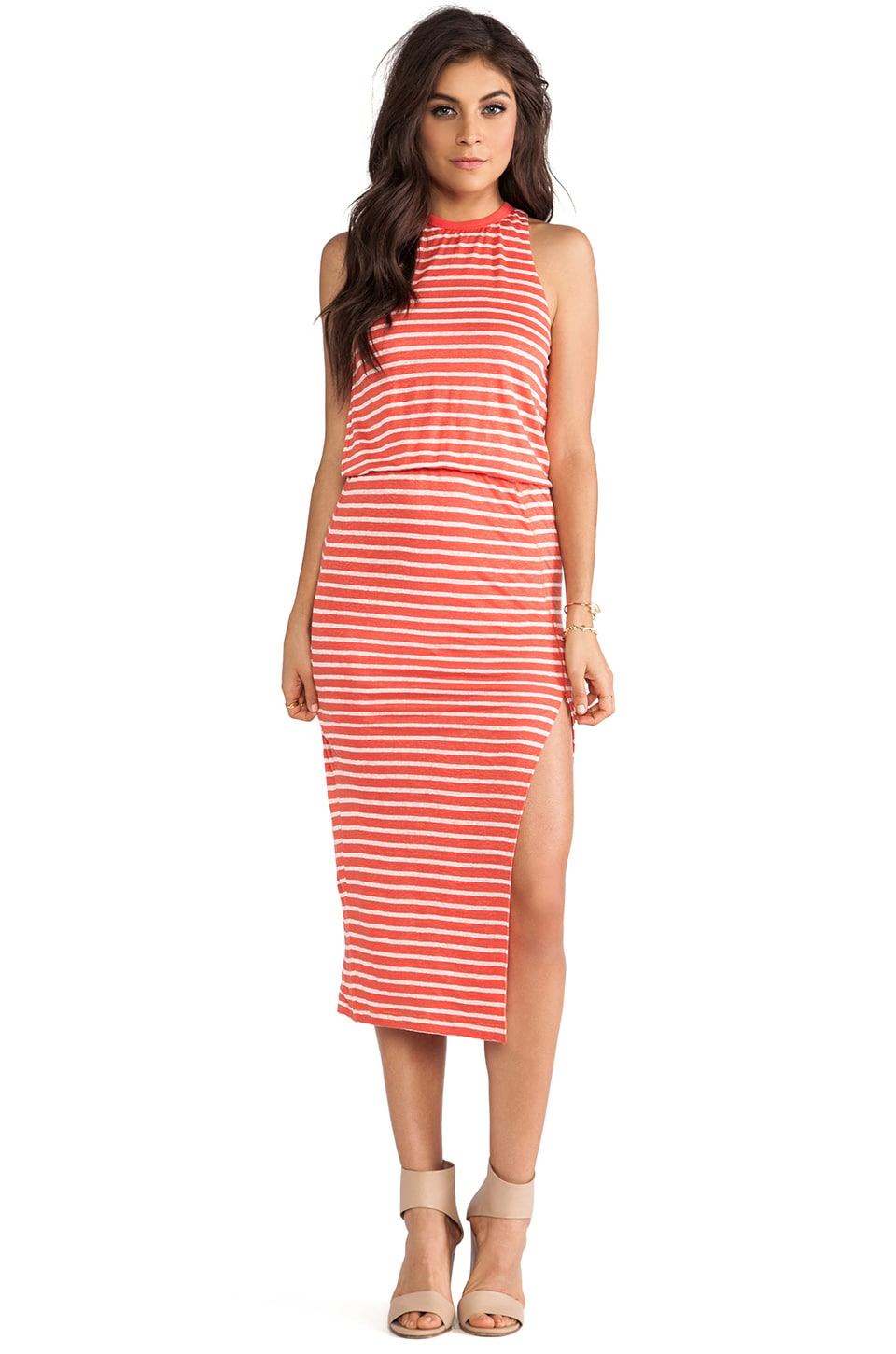 Dolce Vita Calico Dress in Coral & Cream